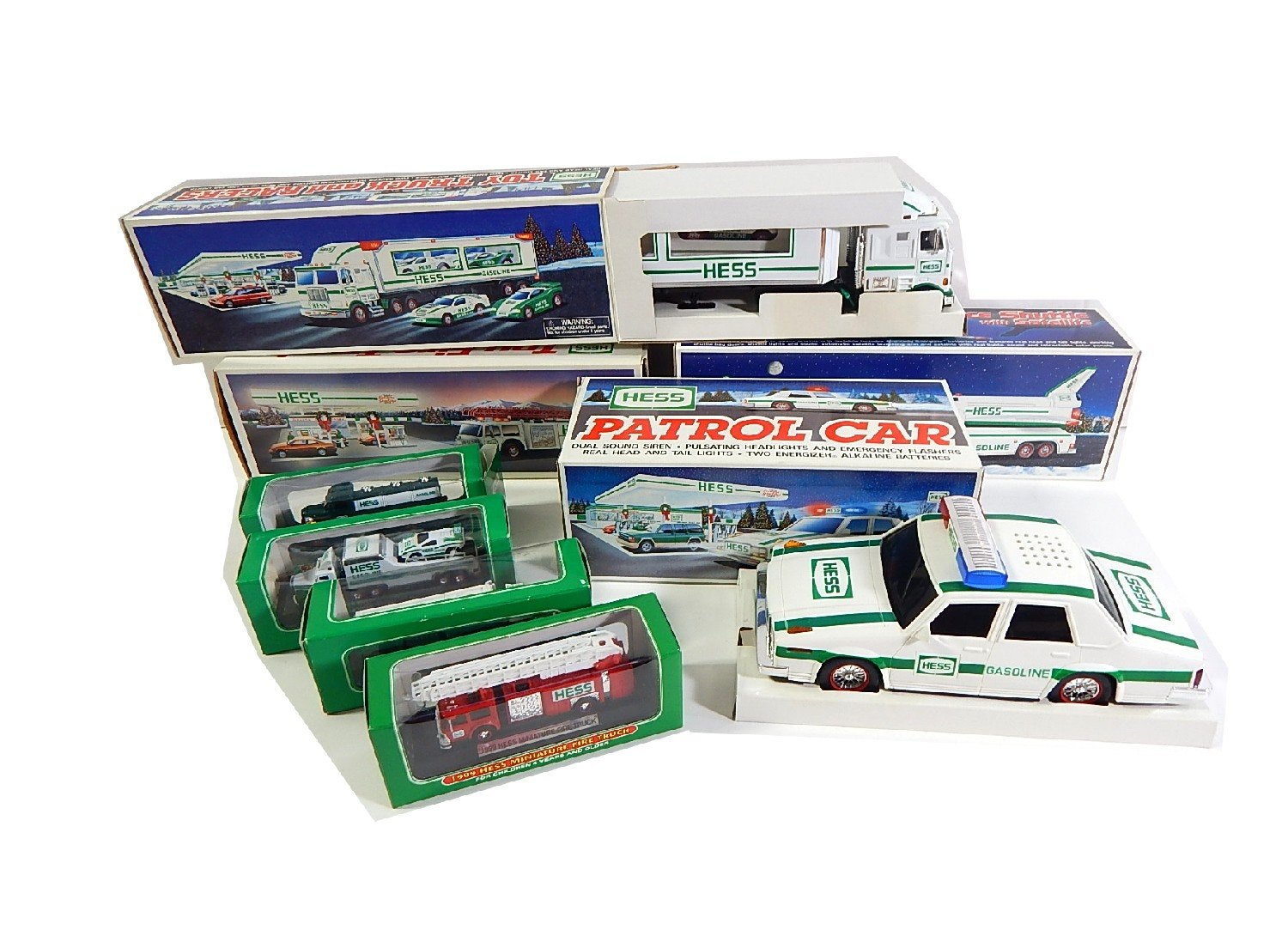 Hess Trucks and Cars - New in Boxes