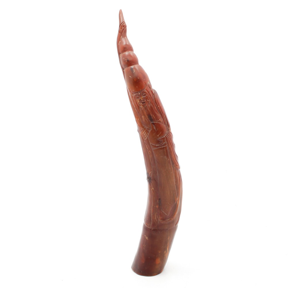 Chinese Carved Horn Sculpture
