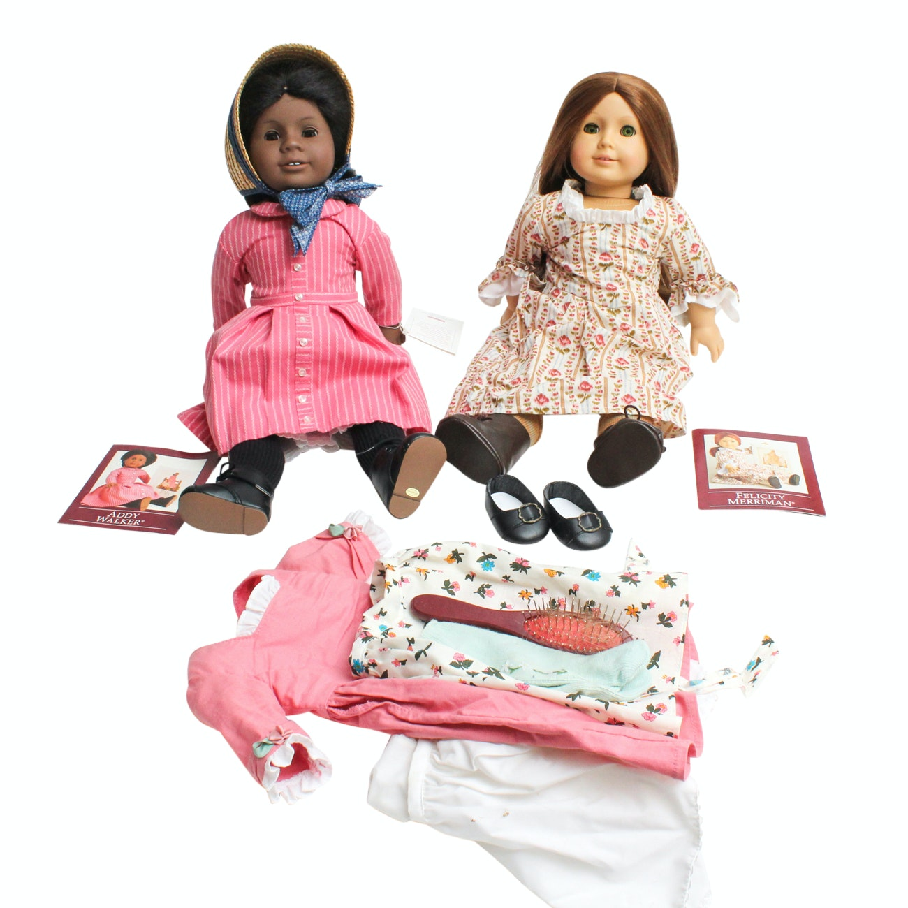 American Girl Doll Historical Characters Felicity Marriman and Addy Walker
