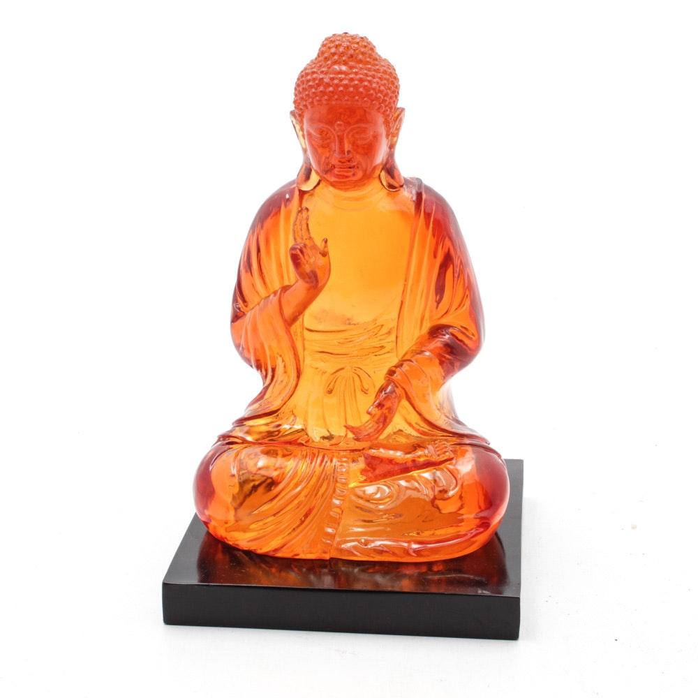 Amber Resin Seated Buddha