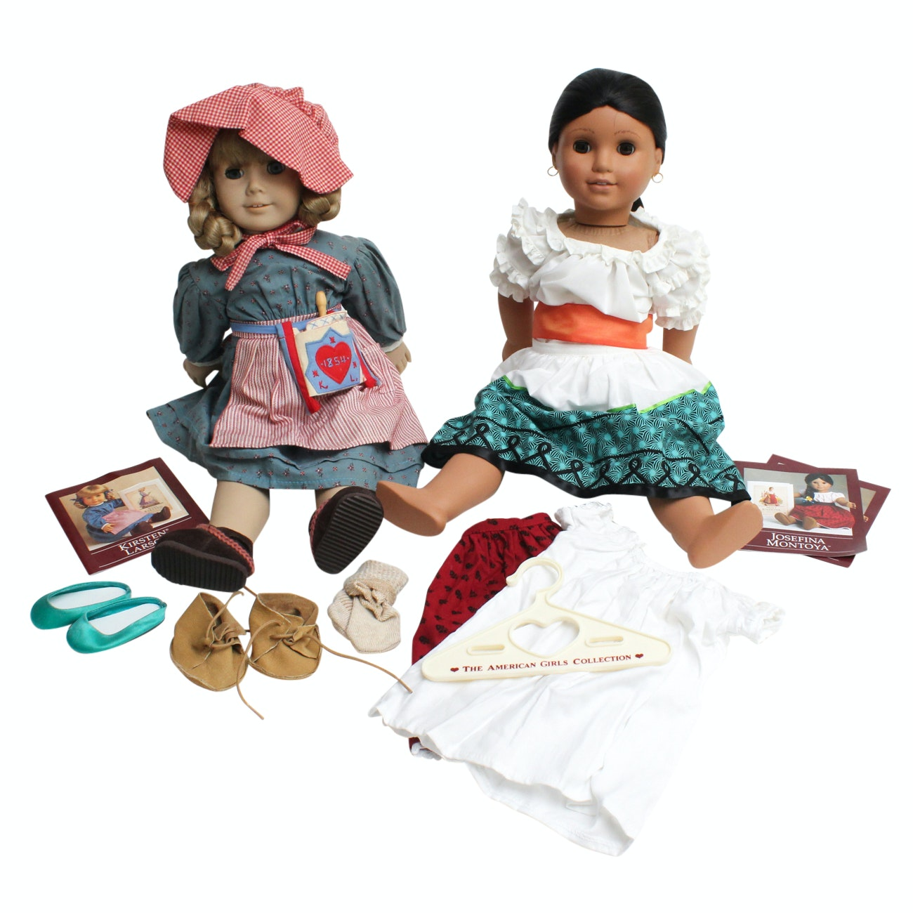"American Girl Doll Historical Characters ""Kirsten Larson"" and ""Josefina Montoya"""