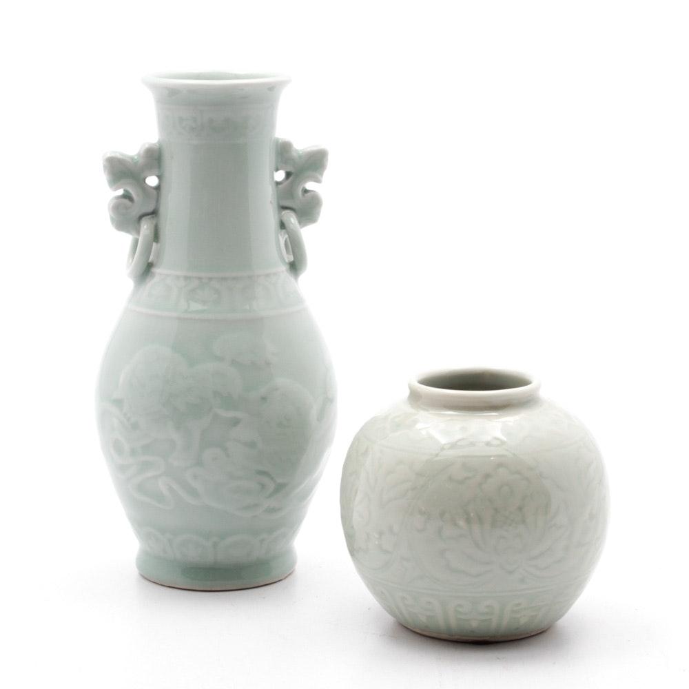 Chinese Ceramic Celadon Vases
