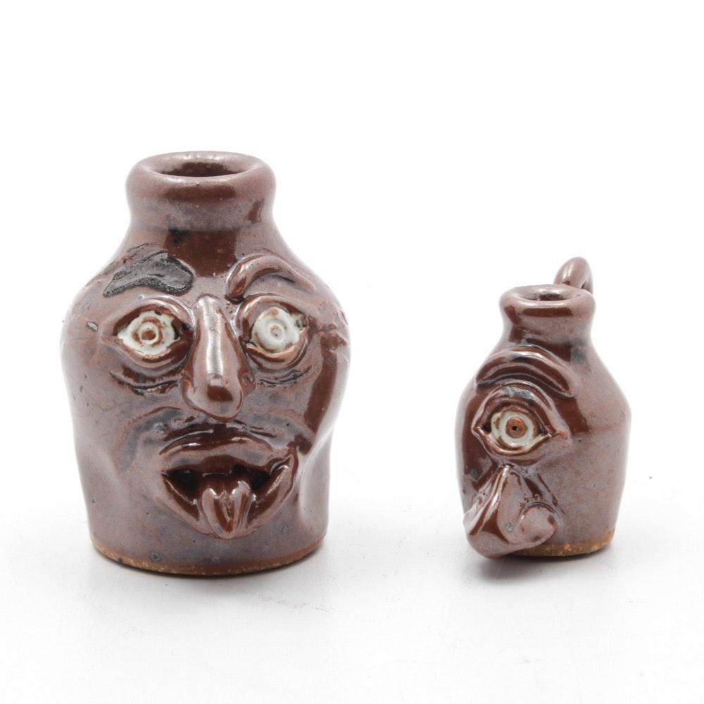 Bastine Pottery Miniature Grotesque Face Jugs