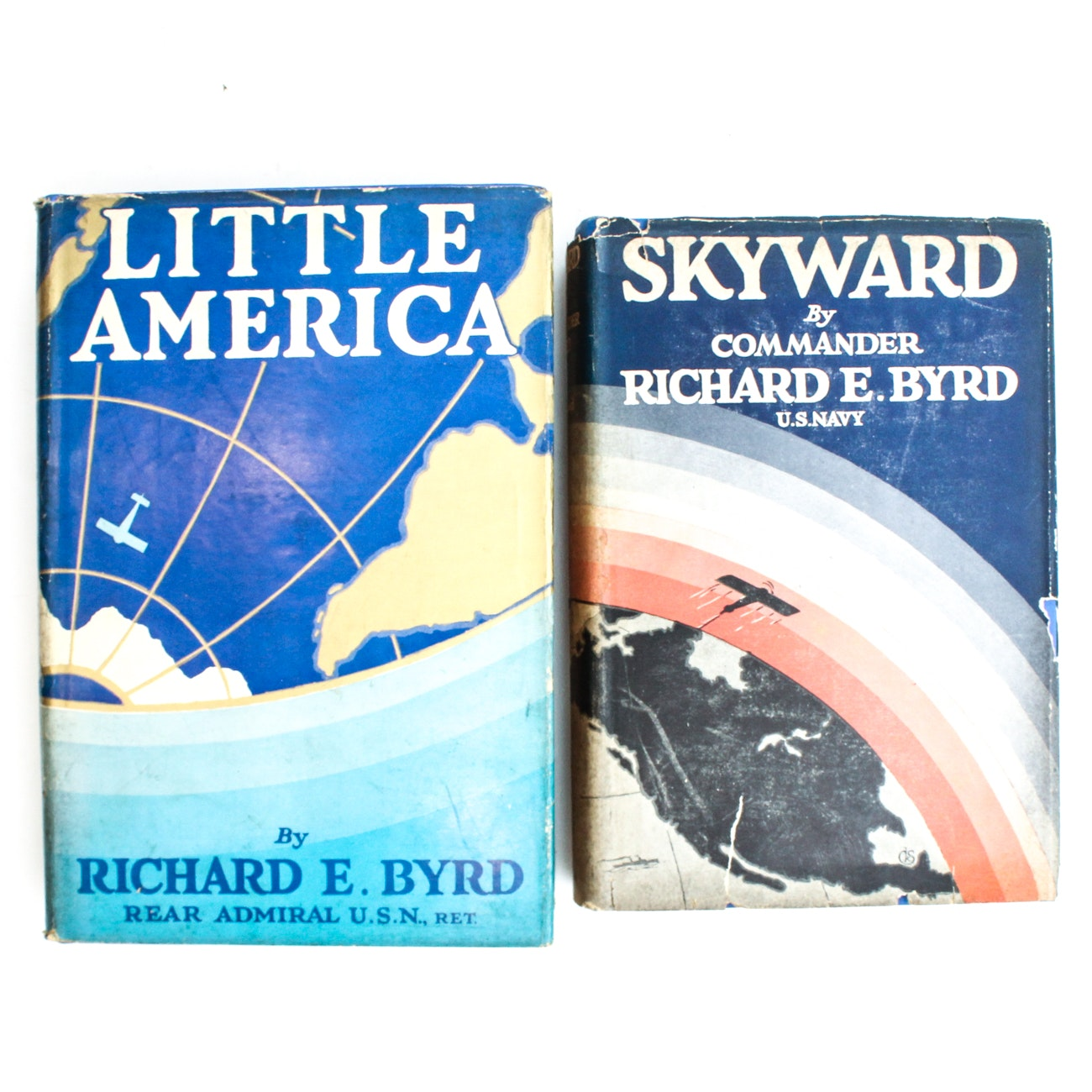 "Signed First Editions ""Skyward "" and ""Little America"" by Richard Byrd"