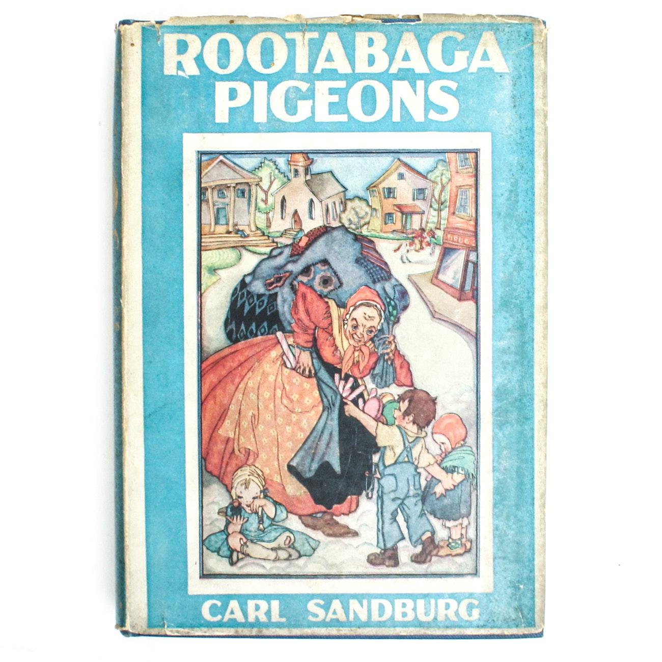 "1923 Signed ""Rootabaga Pigeons"" by Carl Sandburg"
