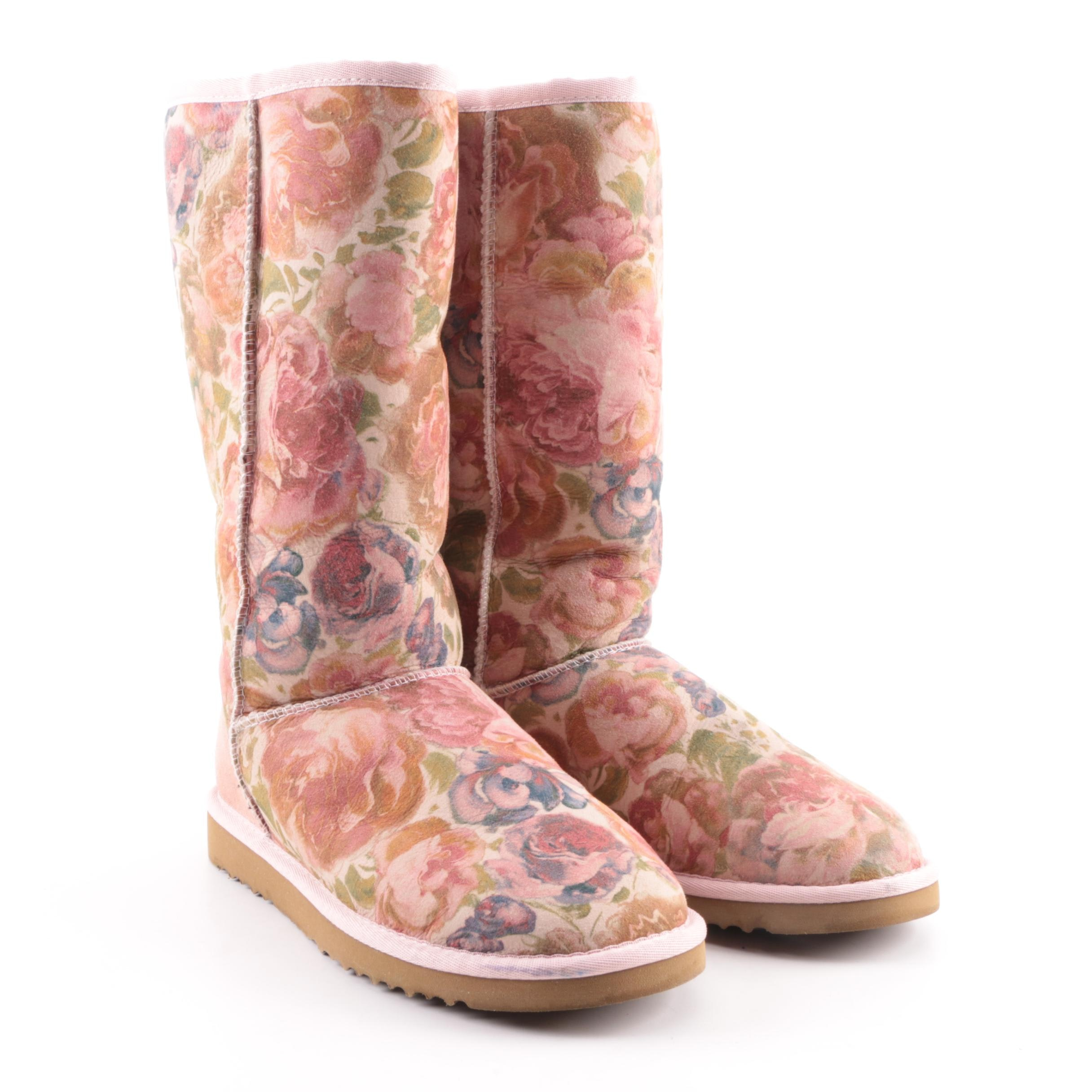 Women's UGG Australia Romantic Classic Tall Floral Print Suede Boots
