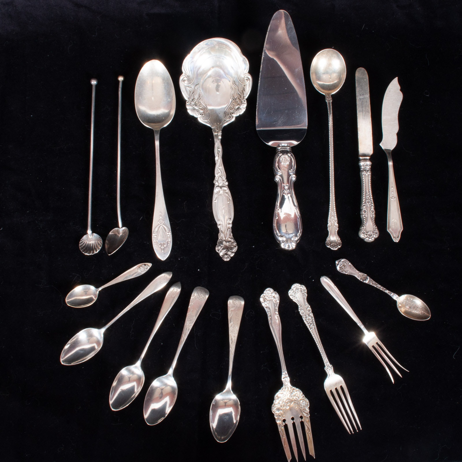 Sterling Silver Flatware by Various Manufacturers Including International Silver