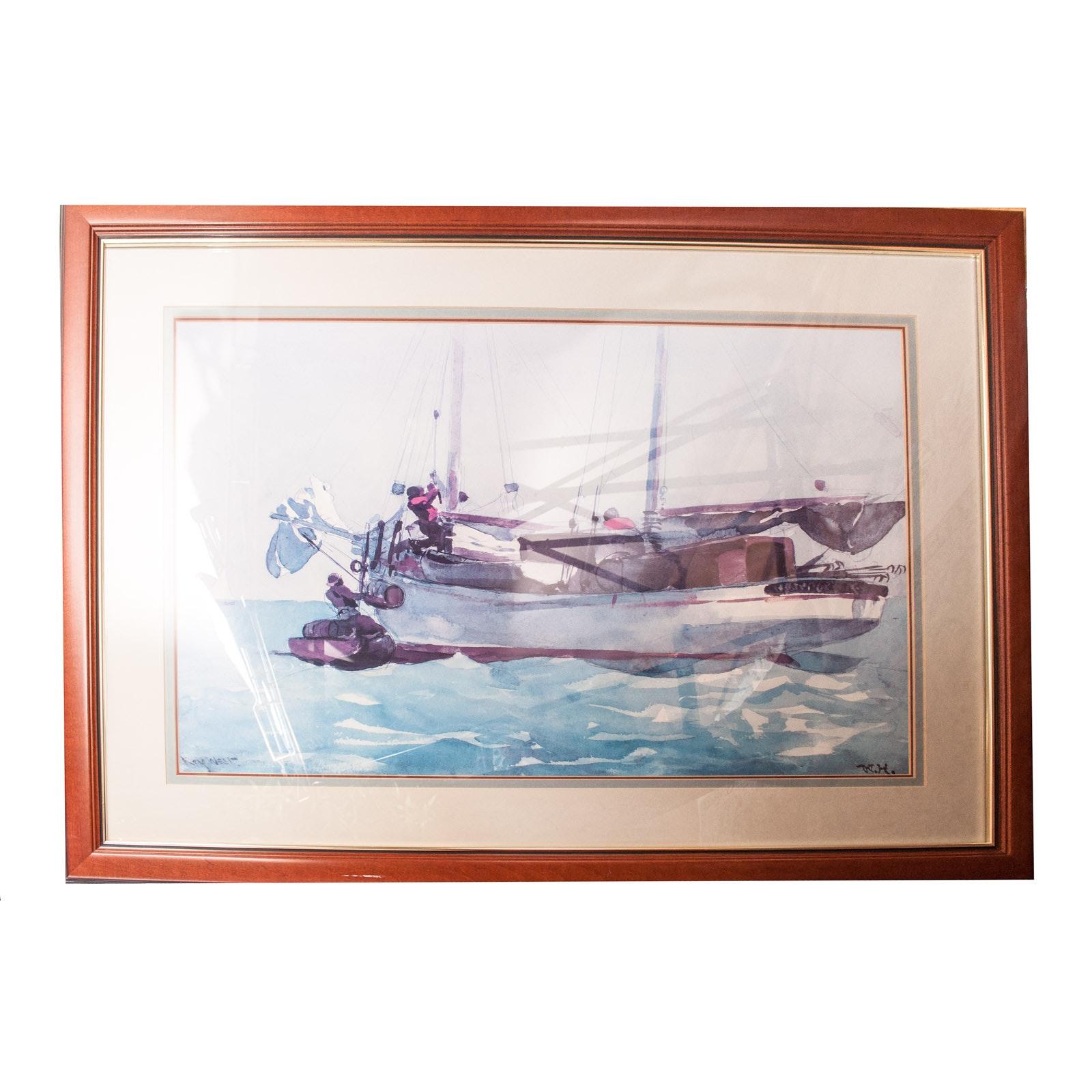 "Offset Lithograph ""Key West"""