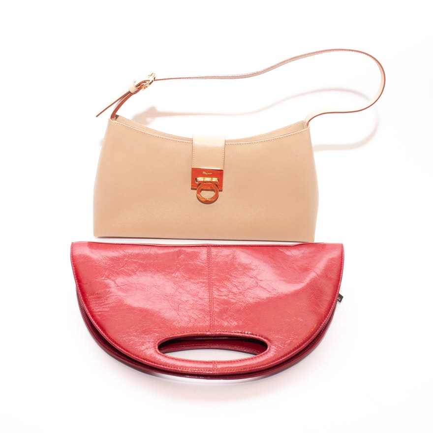 aa347ad2a0 Salvatore Ferragamo and Hobo International Leather Handbags   EBTH