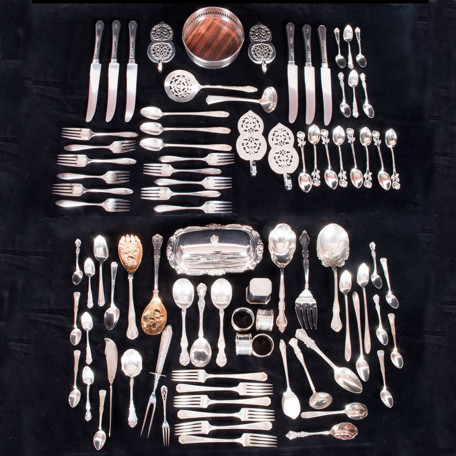 Silver Plate Serveware Including R. Wallace, F.B. Rogers, Community and Others