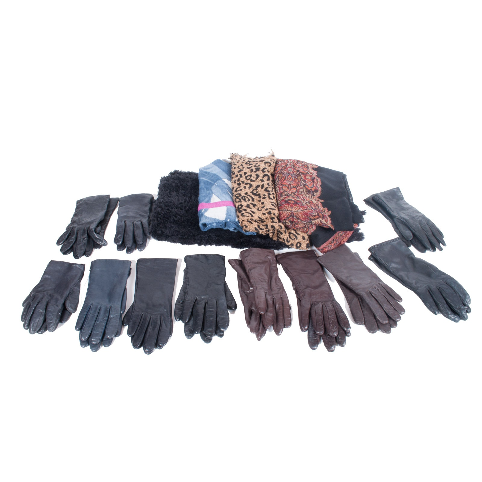 Women's Leather Gloves and Fashion Scarves