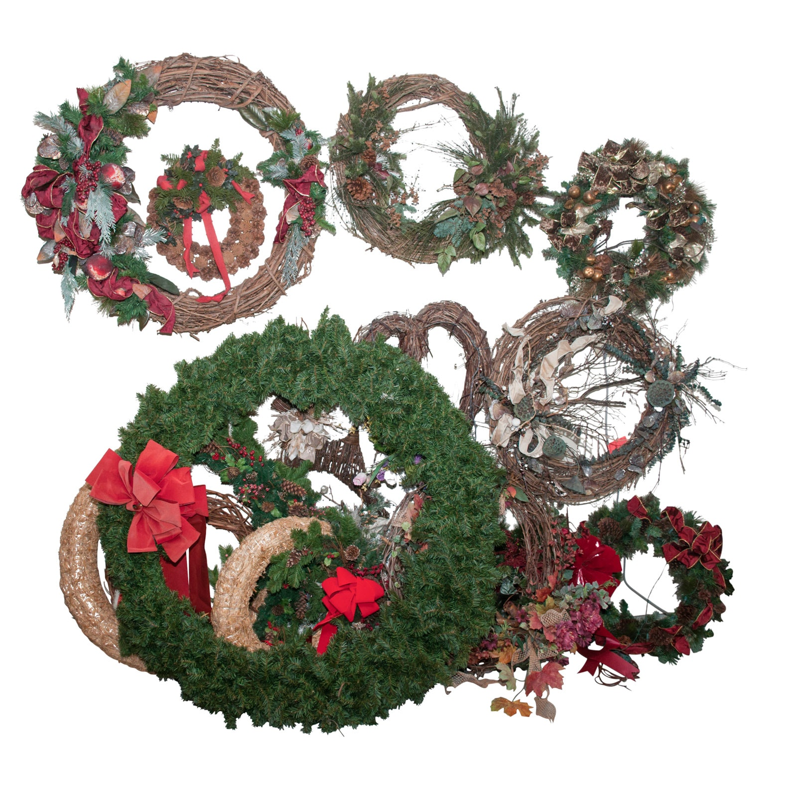 Collection of Seasonal Wreaths and Swags