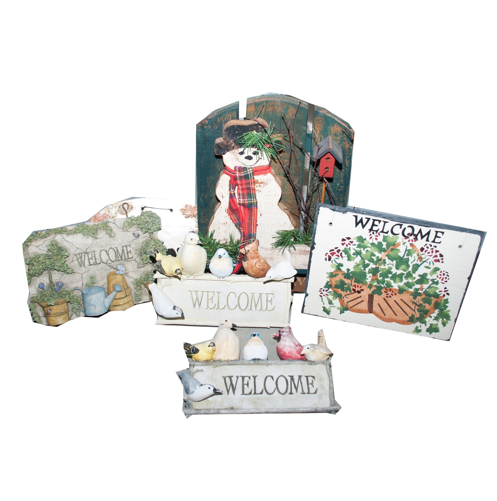 Assortment of Welcome Wall Decor