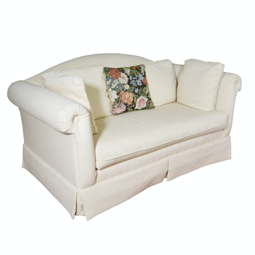 Ivory Loveseat By Custom Furniture