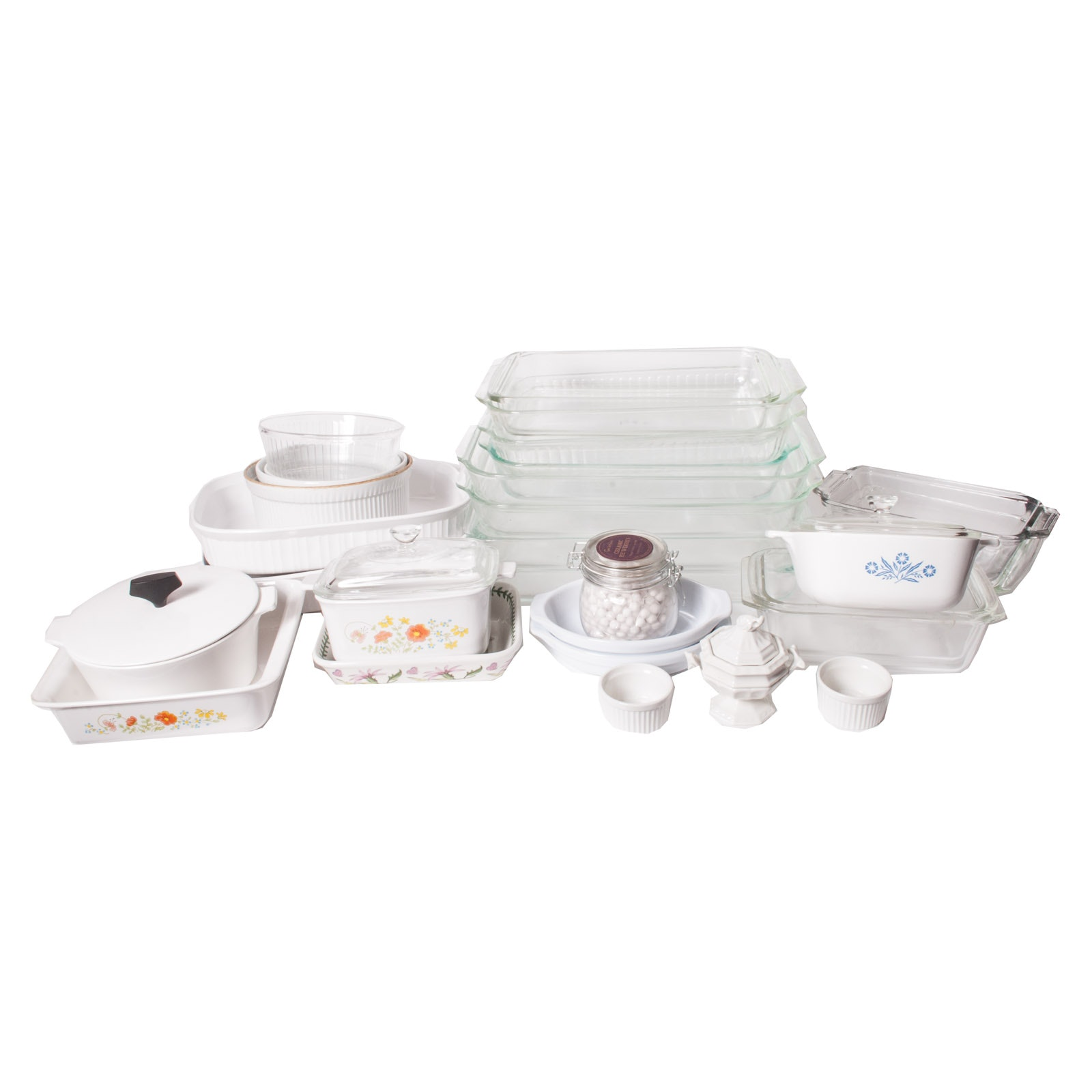 Bakeware Including Pyrex, Vintage CorningWare and Anchor Hocking