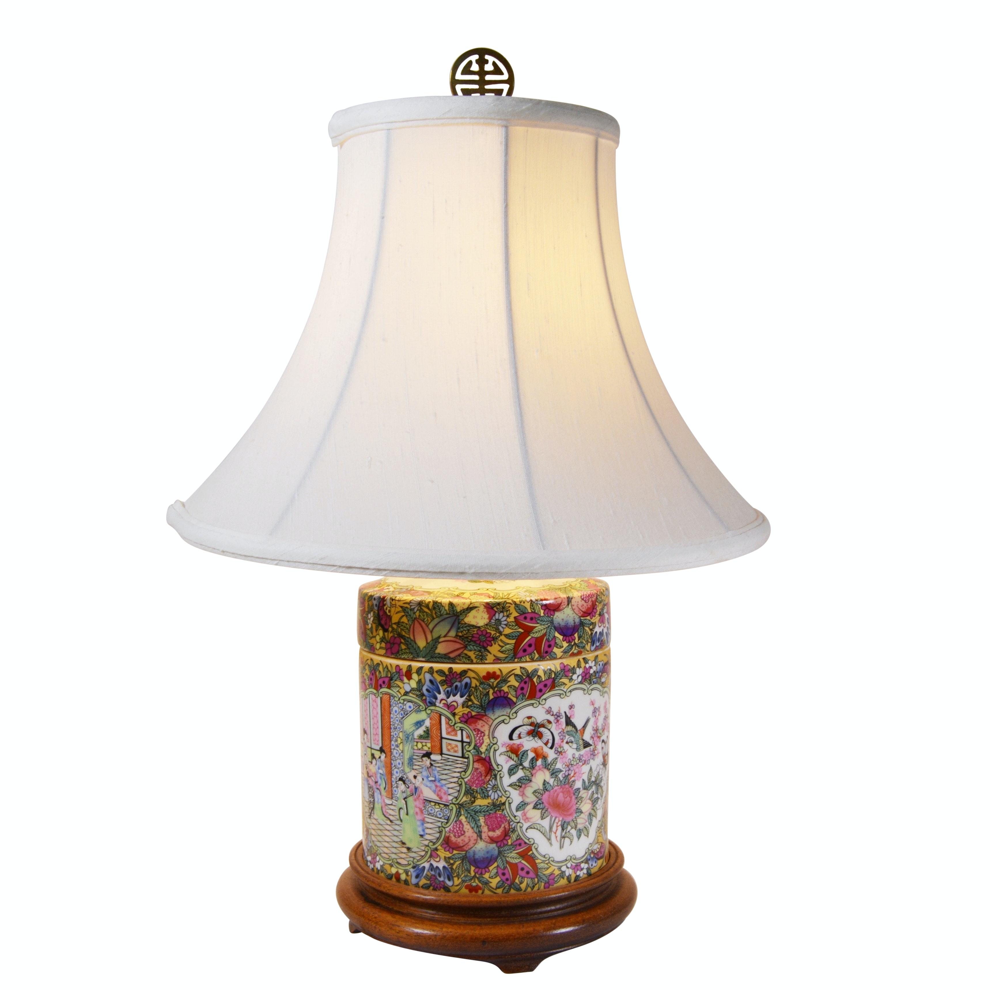 "Chinese ""Rose Medallion"" Porcelain Jar Table Lamp"