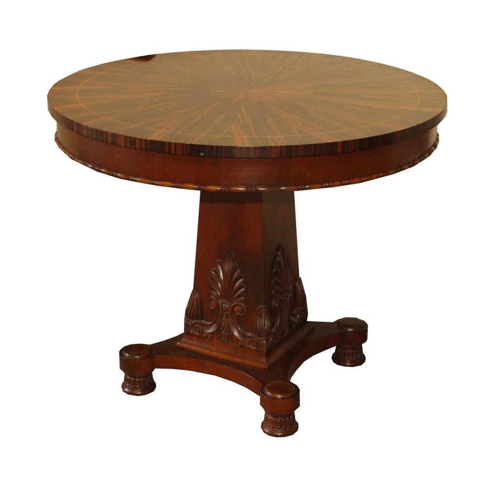 Regency Style Macassar Ebony Veneer Pedestal Table