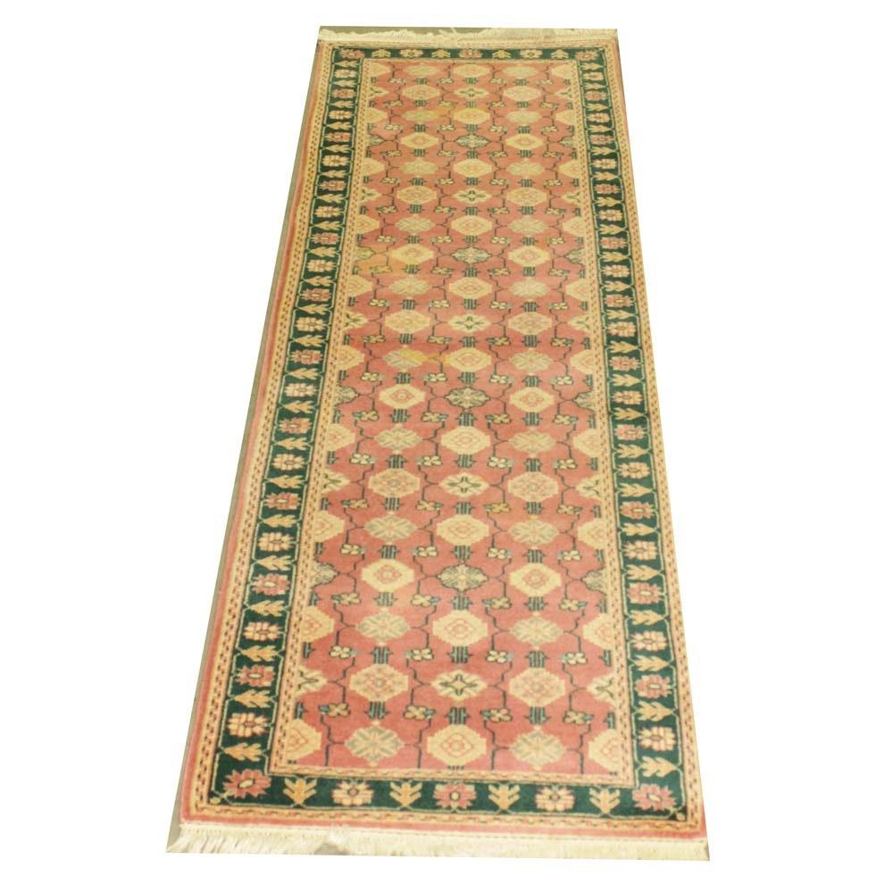 Contemporary Handwoven Indian Carpet Runner