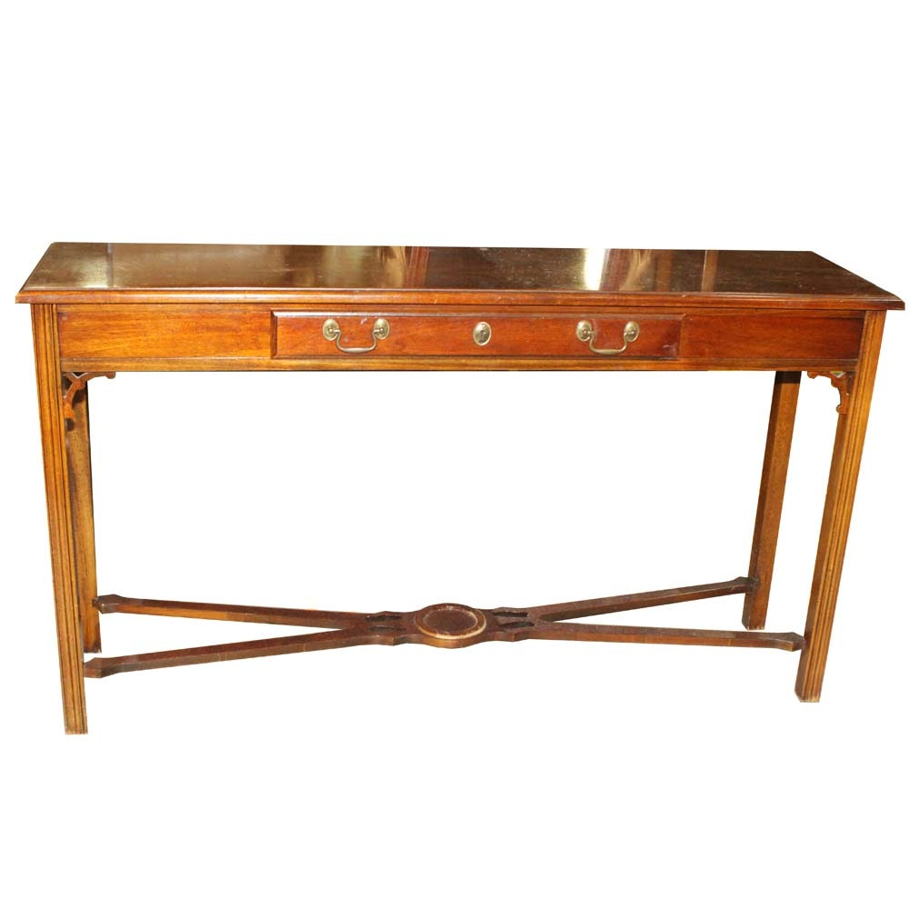 American Drew Chippendale Style Console Table
