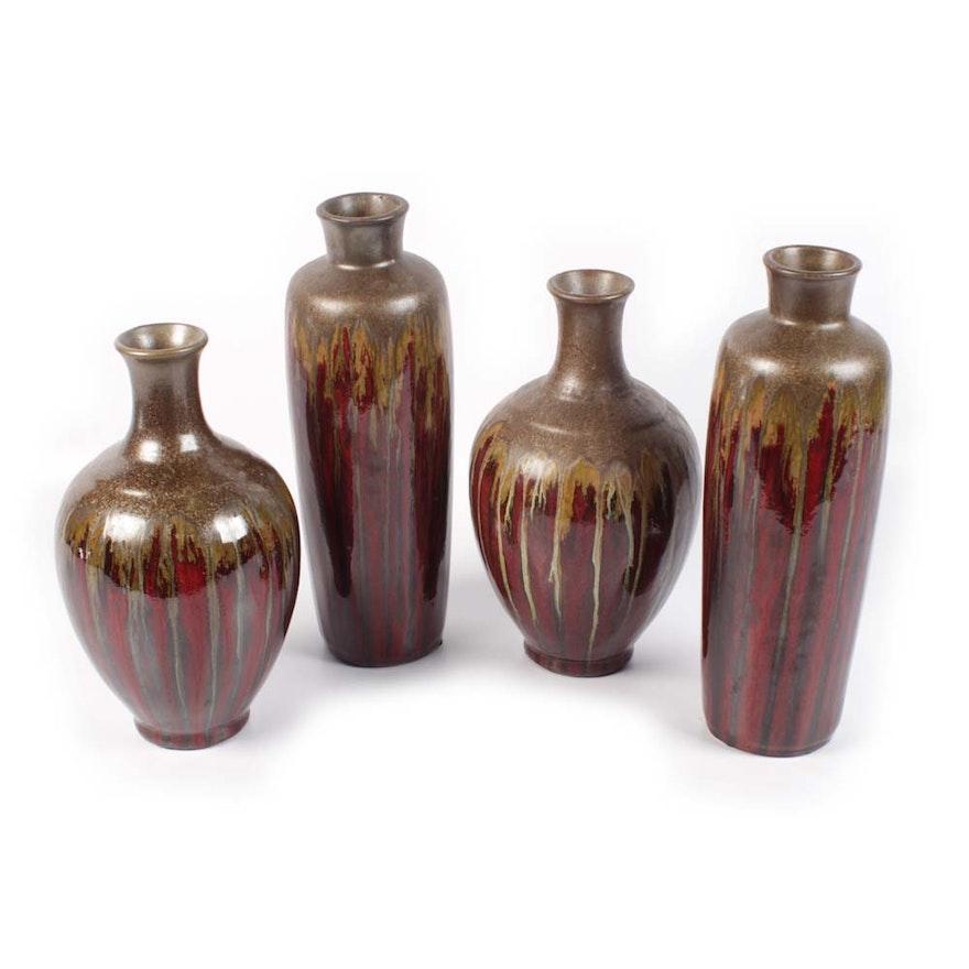 Set Of Pier 1 Contemporary Vases Ebth
