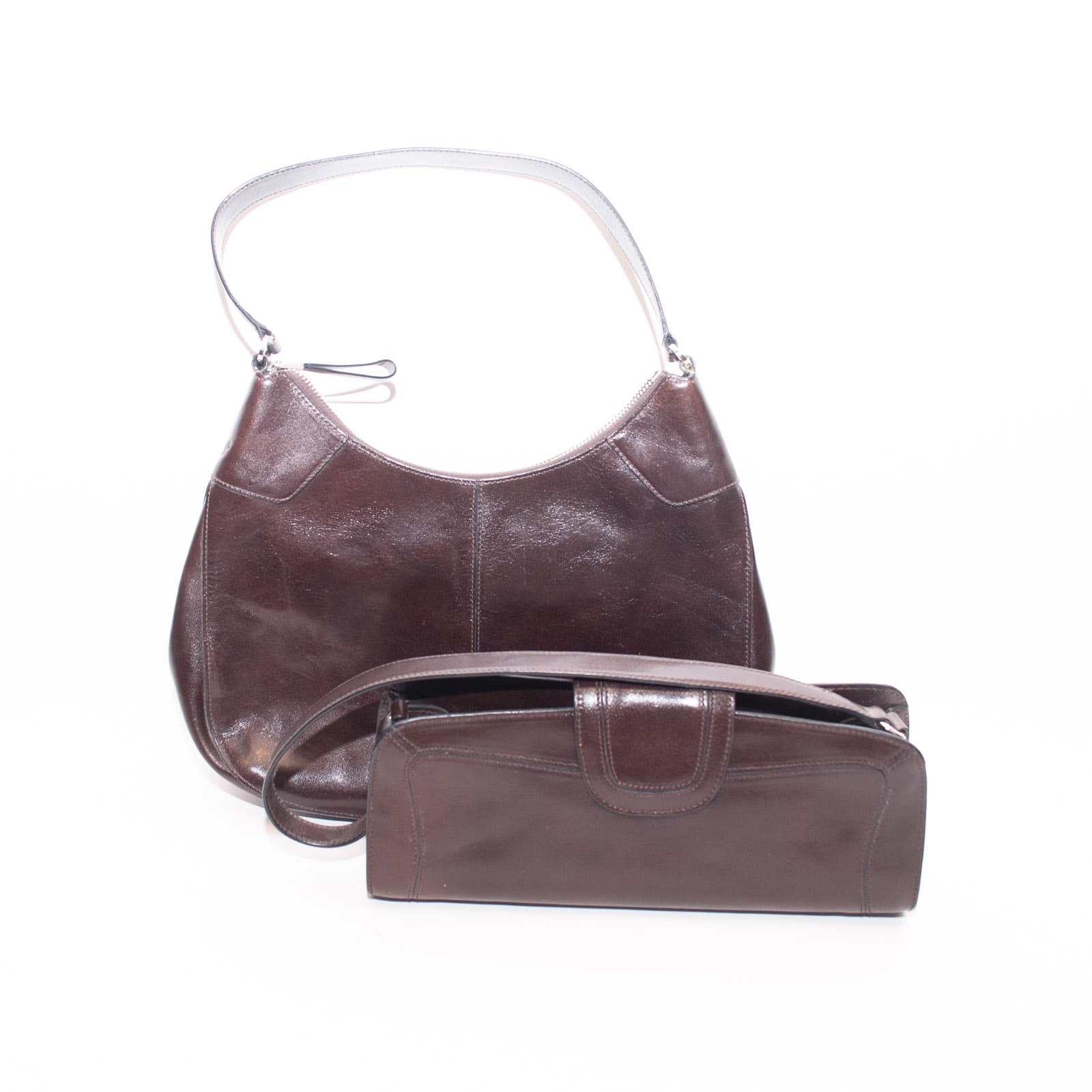 Monsac Brown Leather Handbags