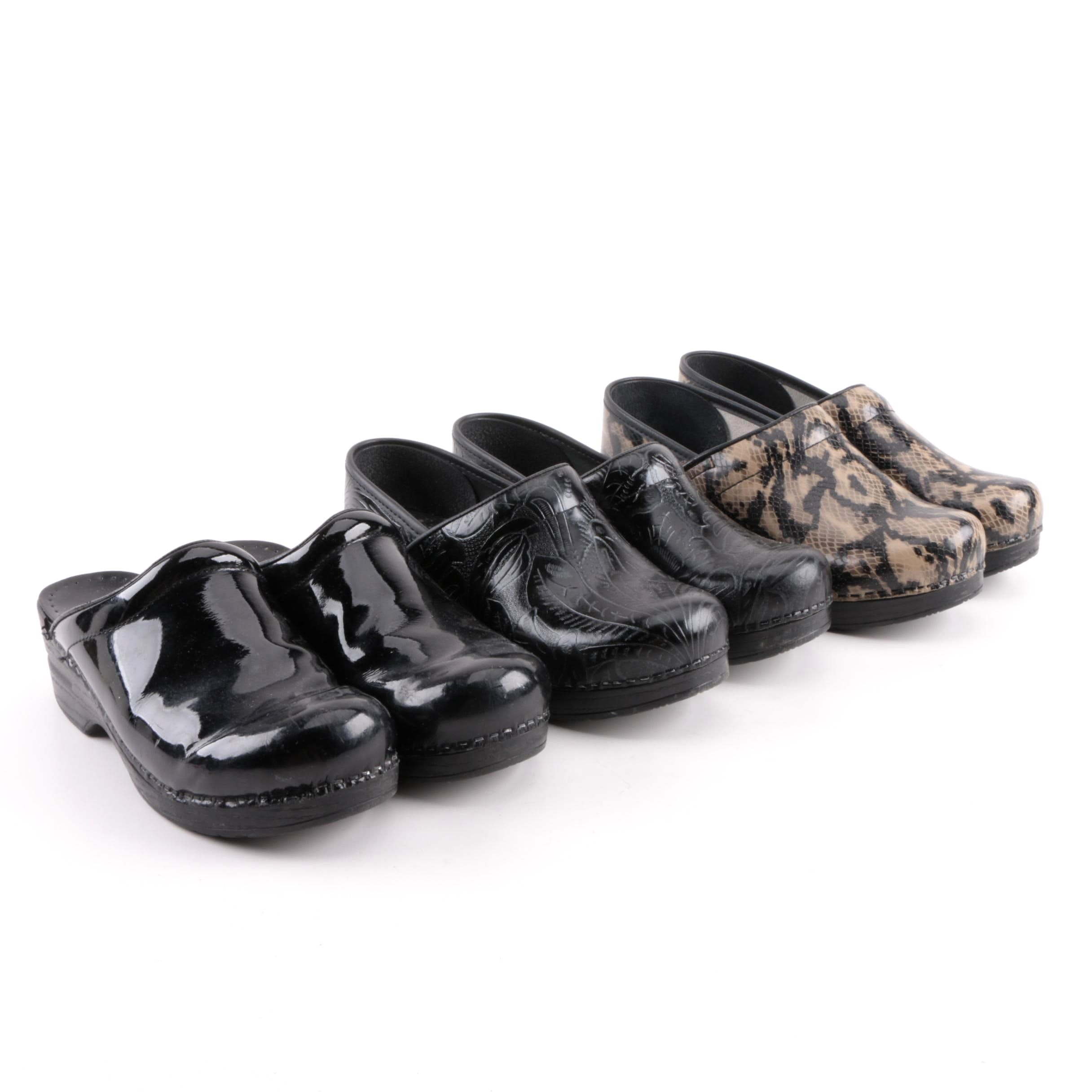 Women's Dansko Leather and Patent Leather Clogs