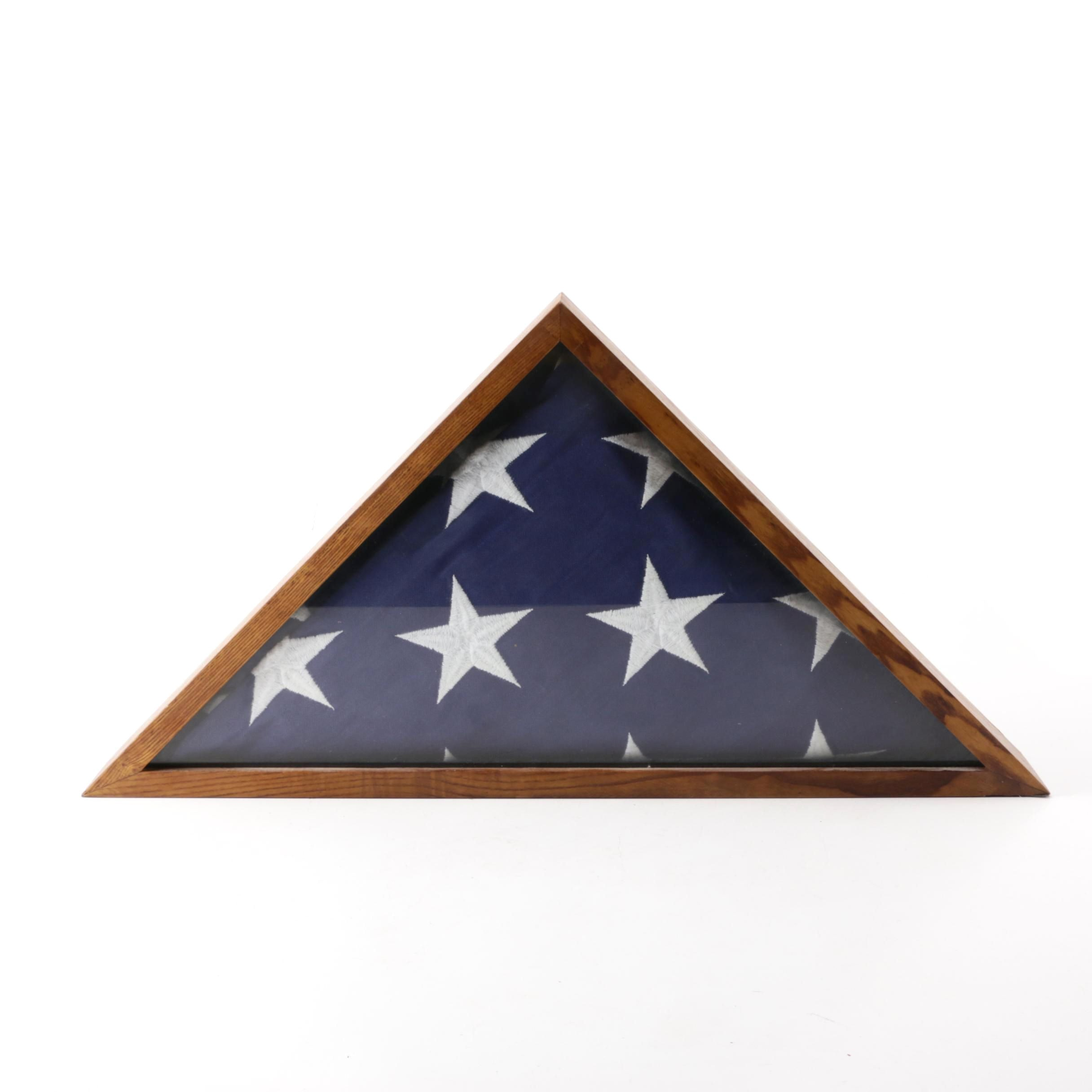 Chicago Flag Co. Fifty-Star Flag in Shadowbox