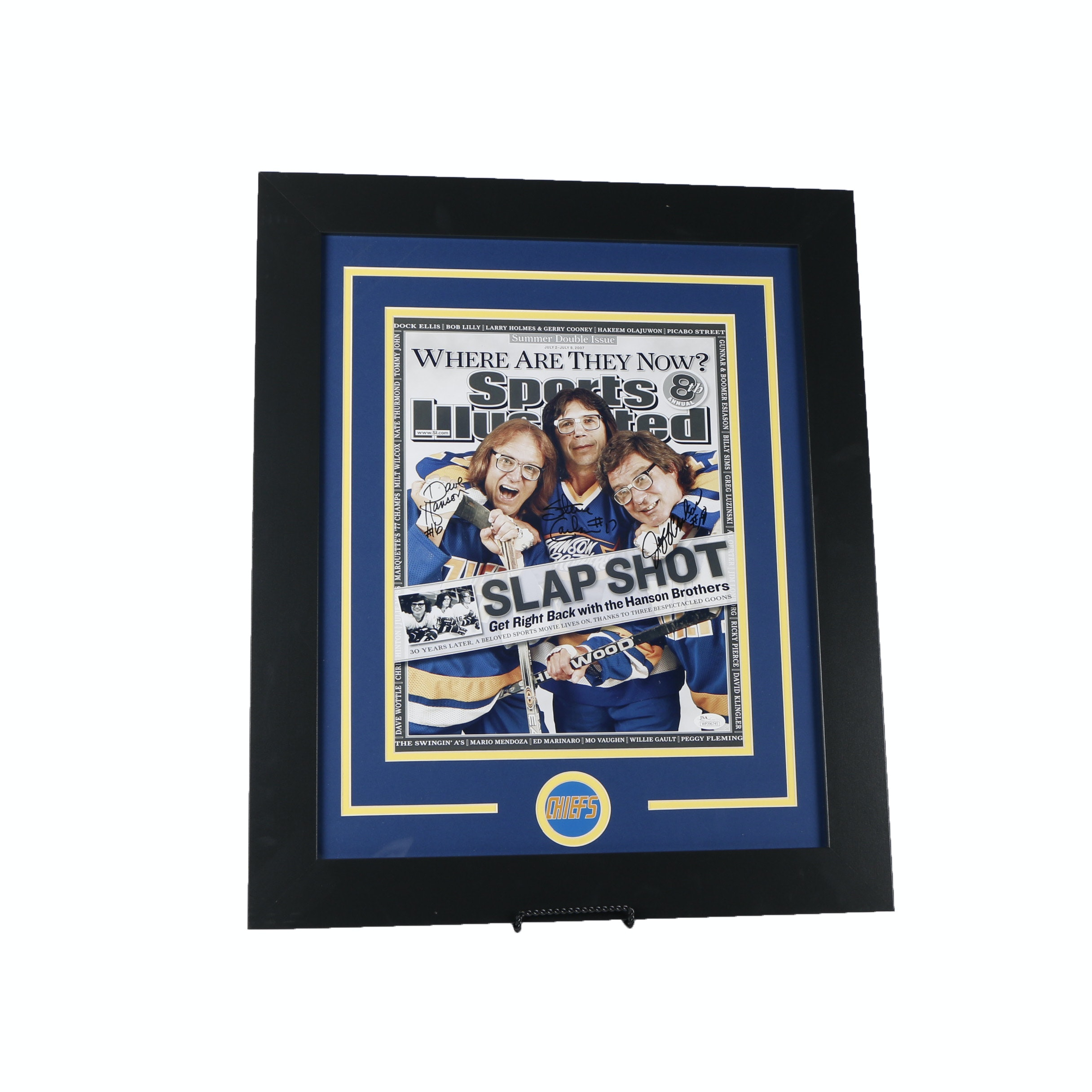 """Slap Shot"" Autographed ""Sports Illustrated"" Cover Poster - JSA COA"