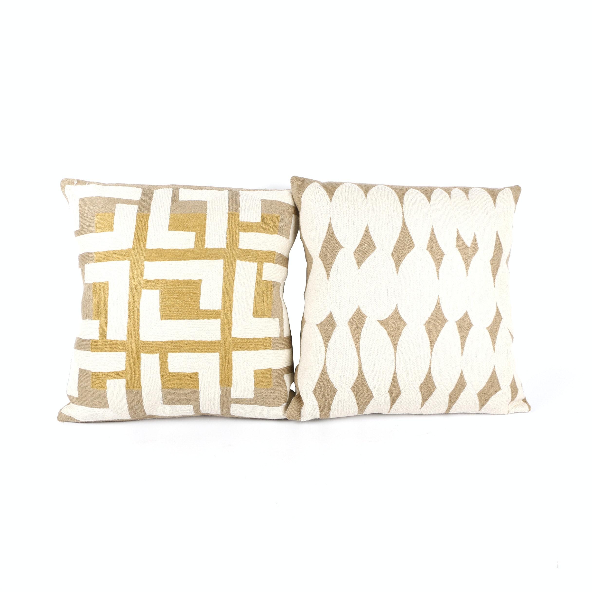 Judy Ross Handwoven Throw Pillows