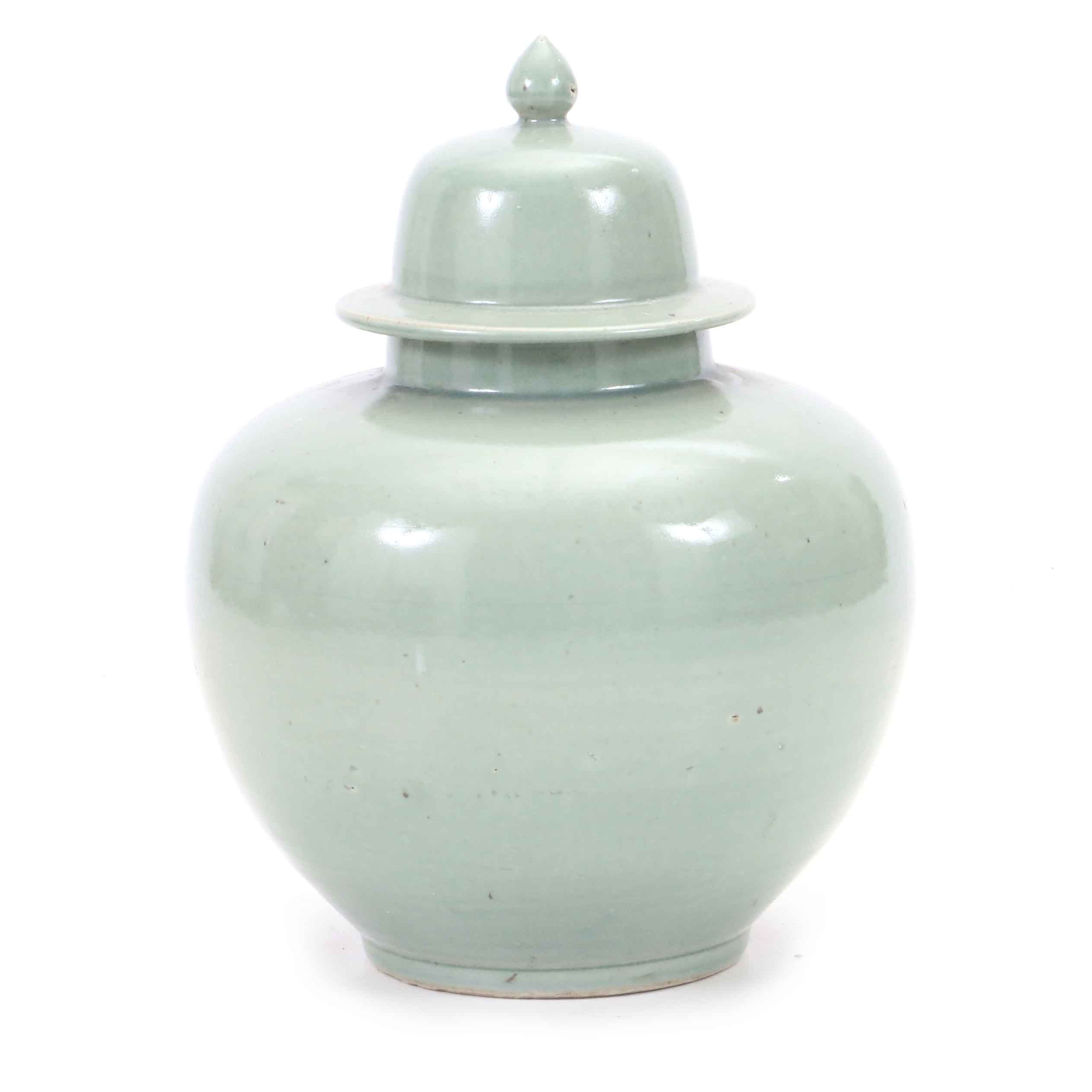 Chinese Celadon Ceramic Ginger Jar