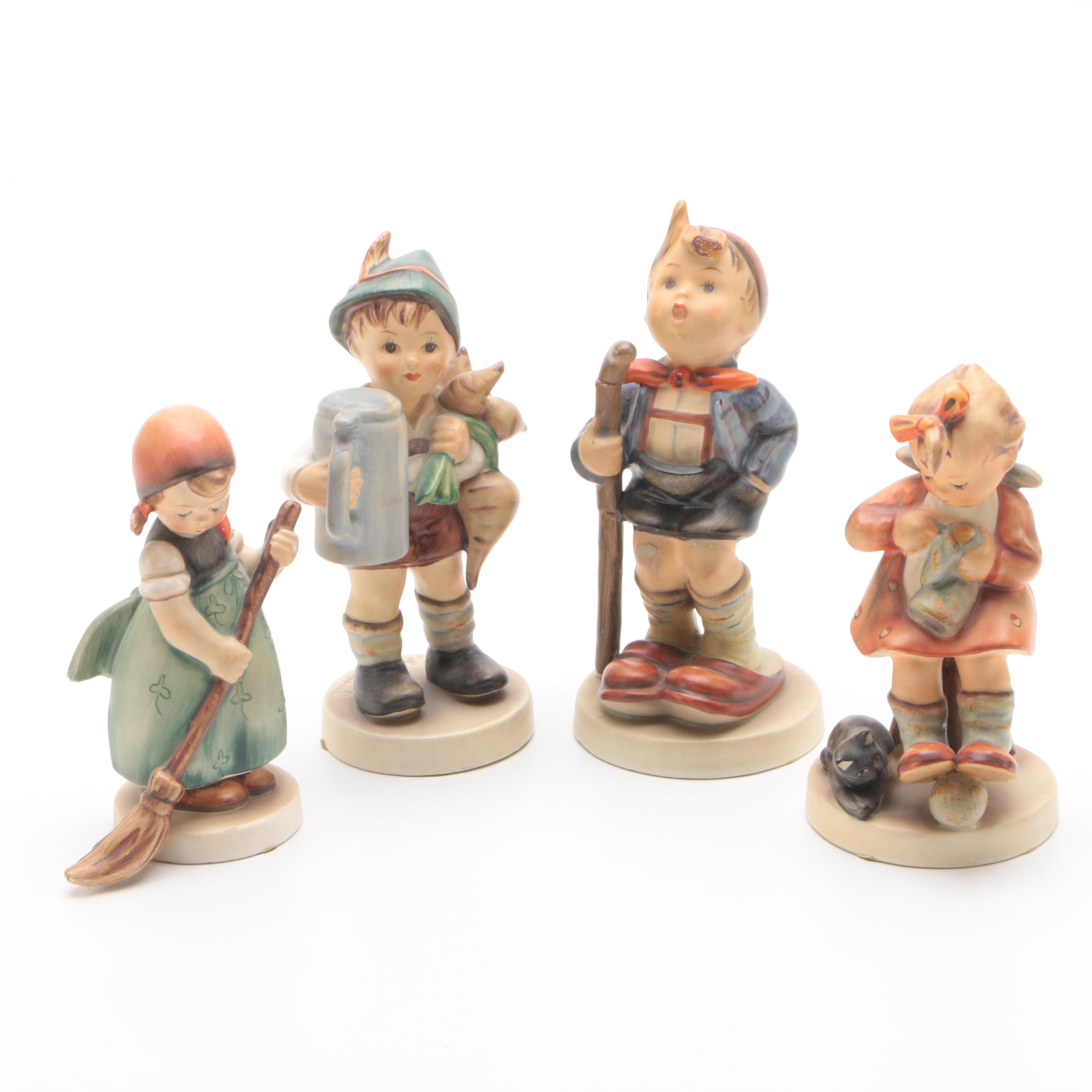 "Goebel M.I. Hummel ""For Father"" and Other Porcelain Figurines"