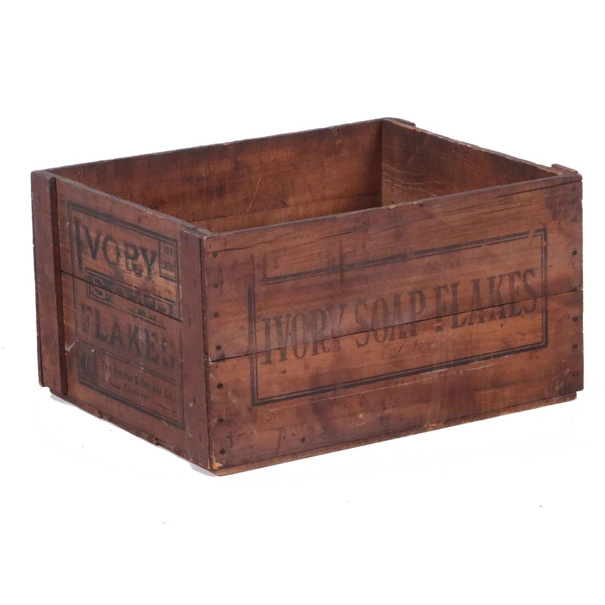 Vintage Ivory Soap Flakes Crate