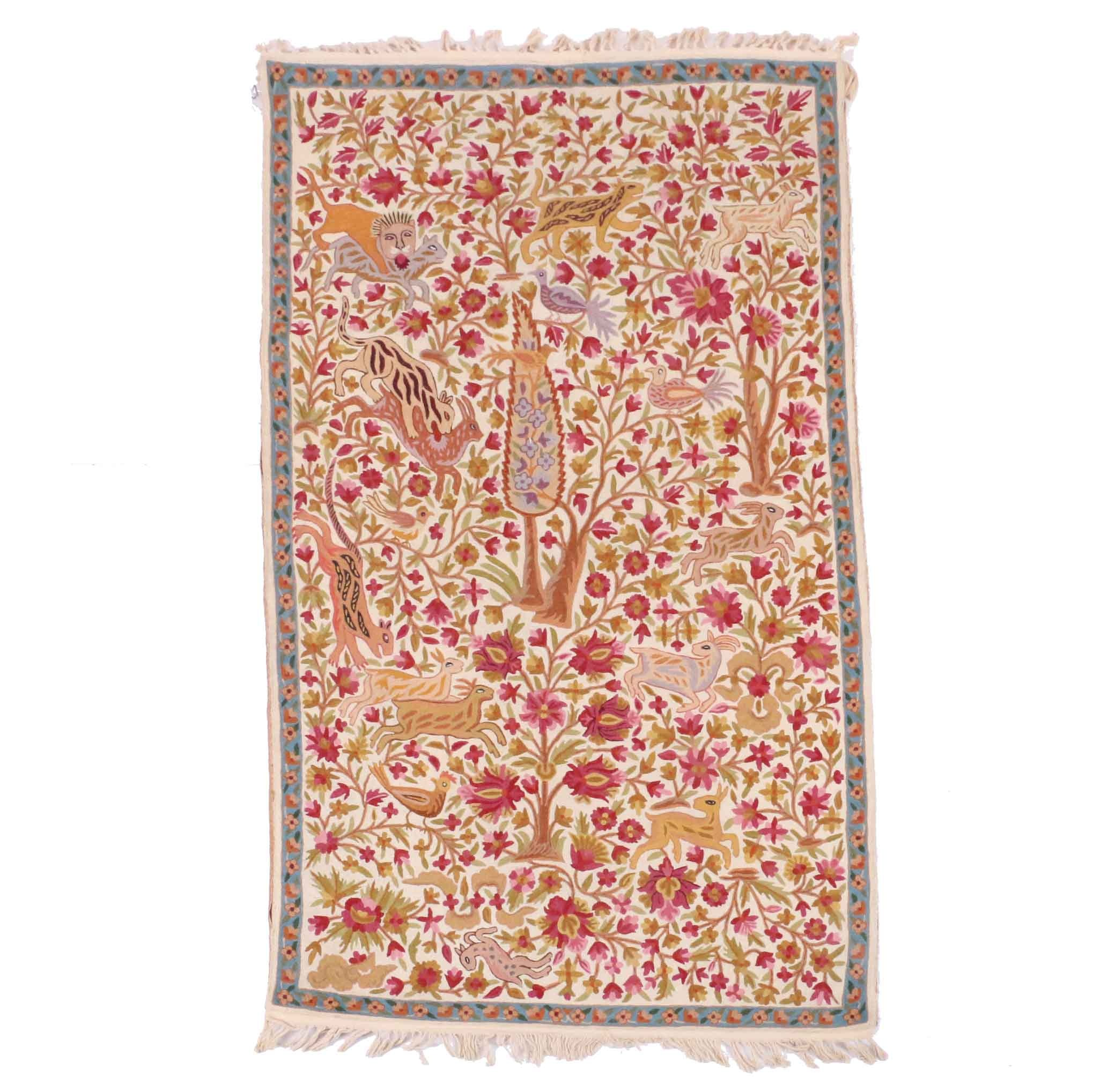 Persian Style Tree of Life Inspired Tapestry