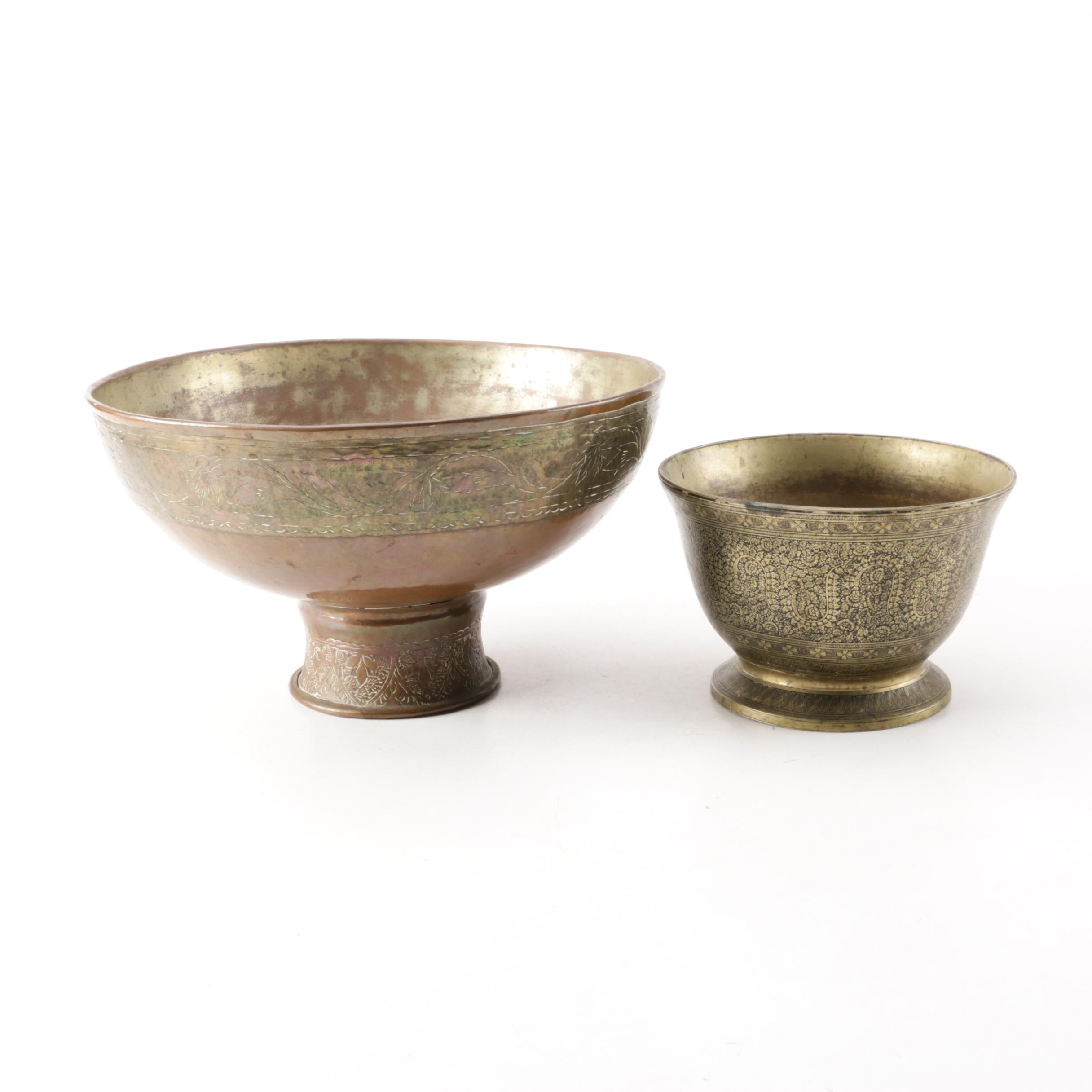 Indo-Persian Style Brass Bowls