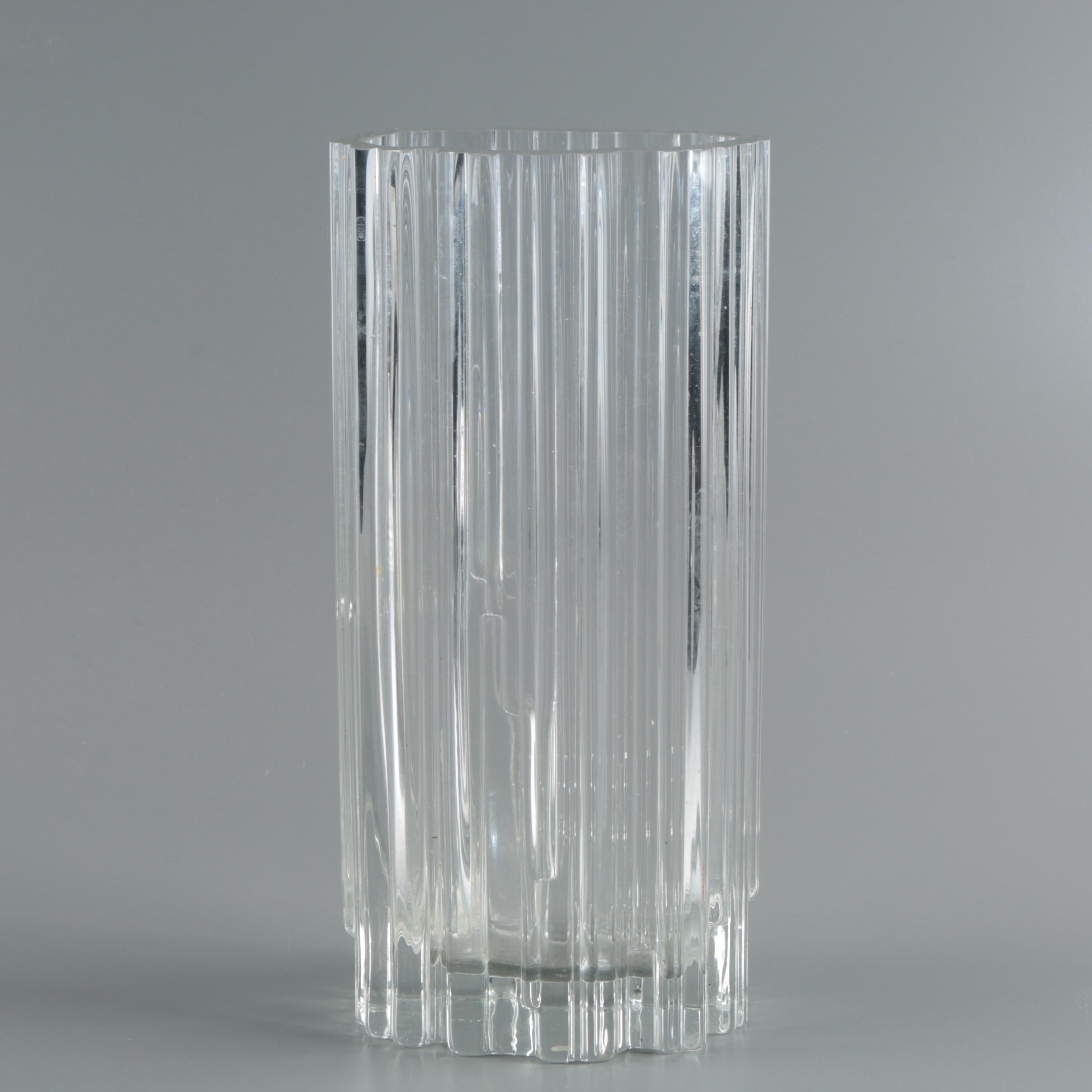 Tapio Wirkkala Signed Art Glass Vase