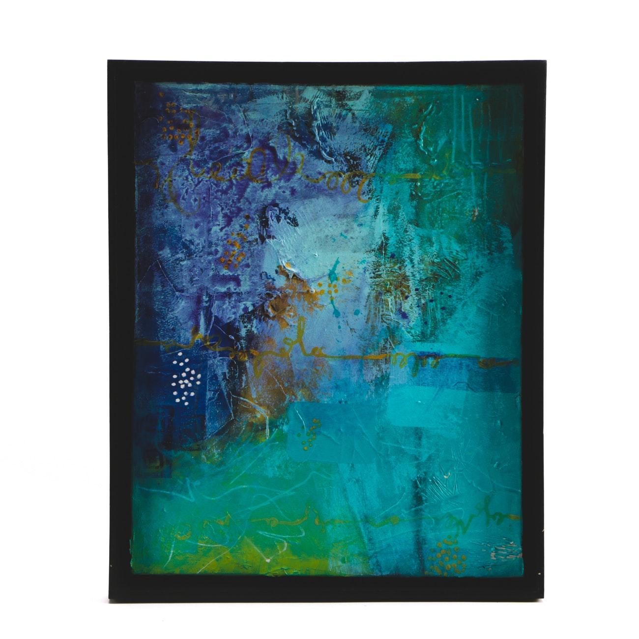 "Sarah Brown Acrylic Painting ""What Lies Beneath"""