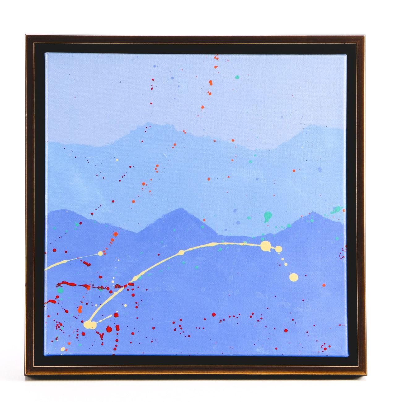 "Sarah Brown Acrylic Painting ""Splash Series I"""