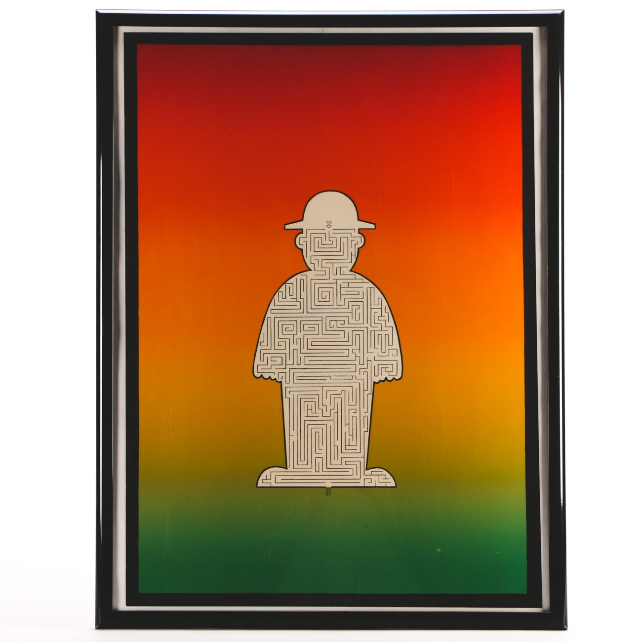 "Jean Sariano Limited Edition Serigraph ""The Amazed Man"""