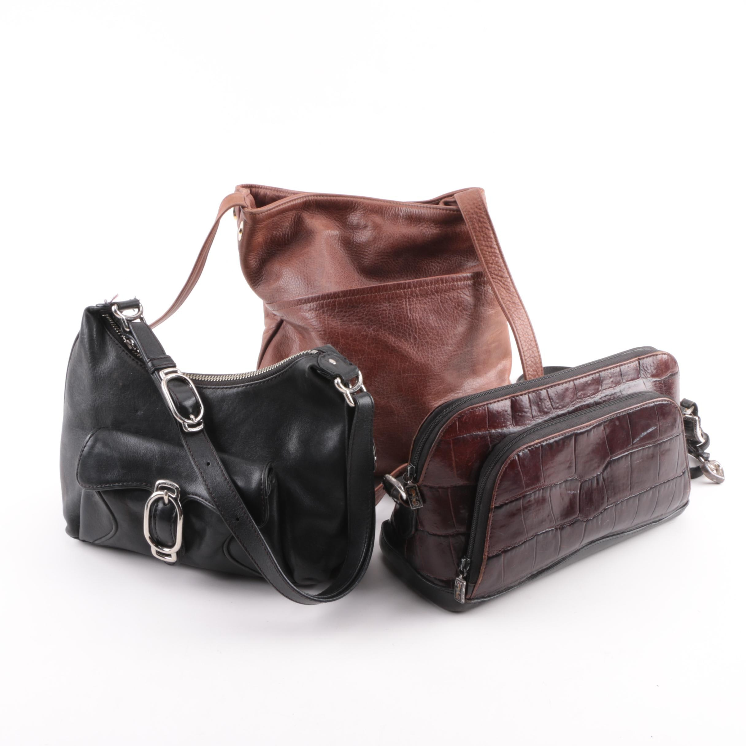 Leather Shoulder Bags Including Brighton and Cole Haan