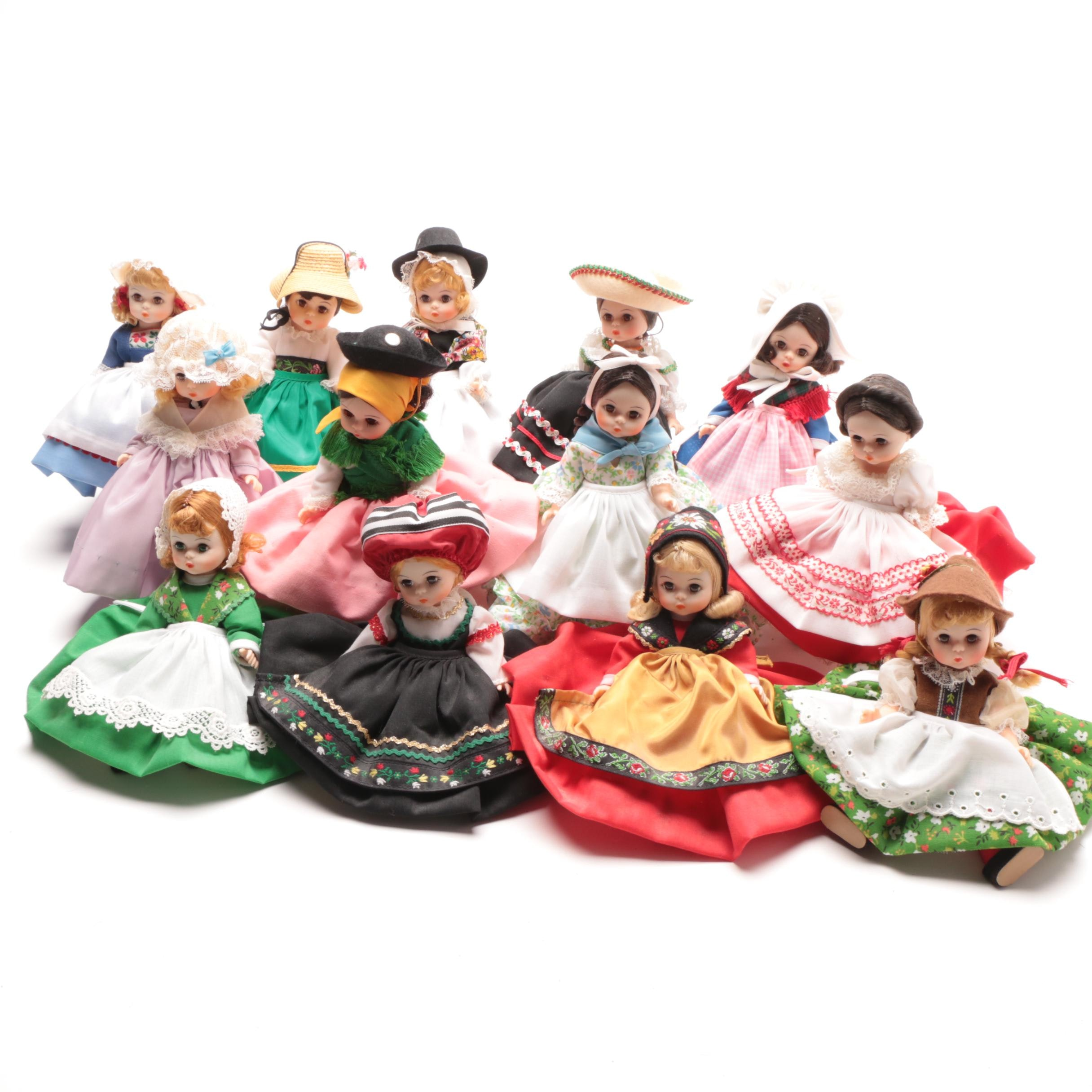 Collection of Madame Alexander Dolls of Various Nationalities