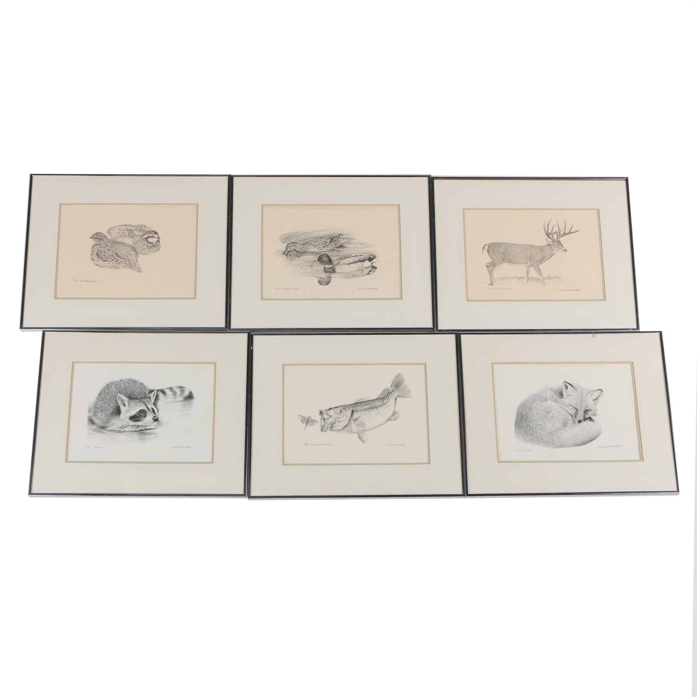 Charles Beckendorf Limited Edition Wildlife Rotogravures