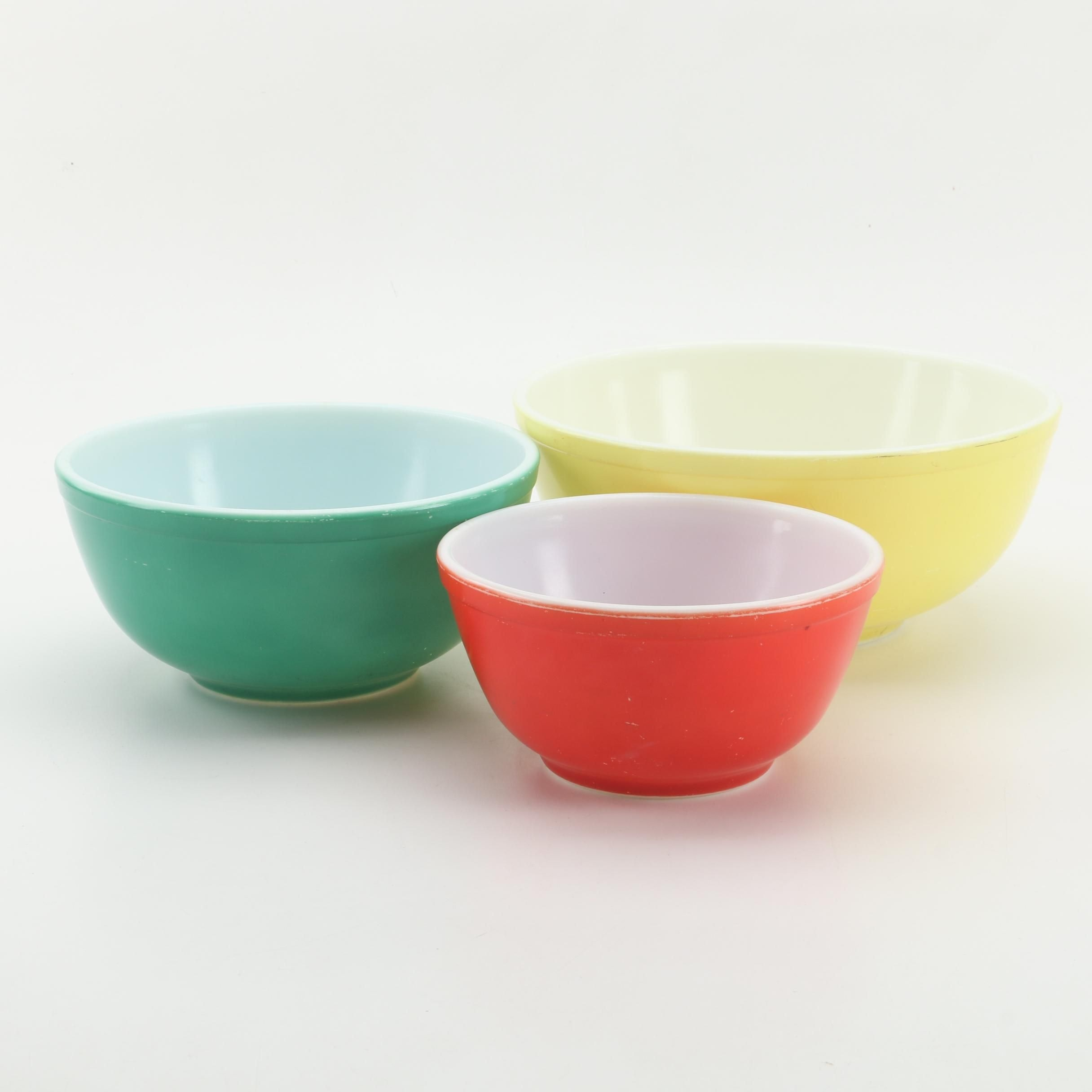 "Pyrex ""Primary Colors"" Mixing Bowls"
