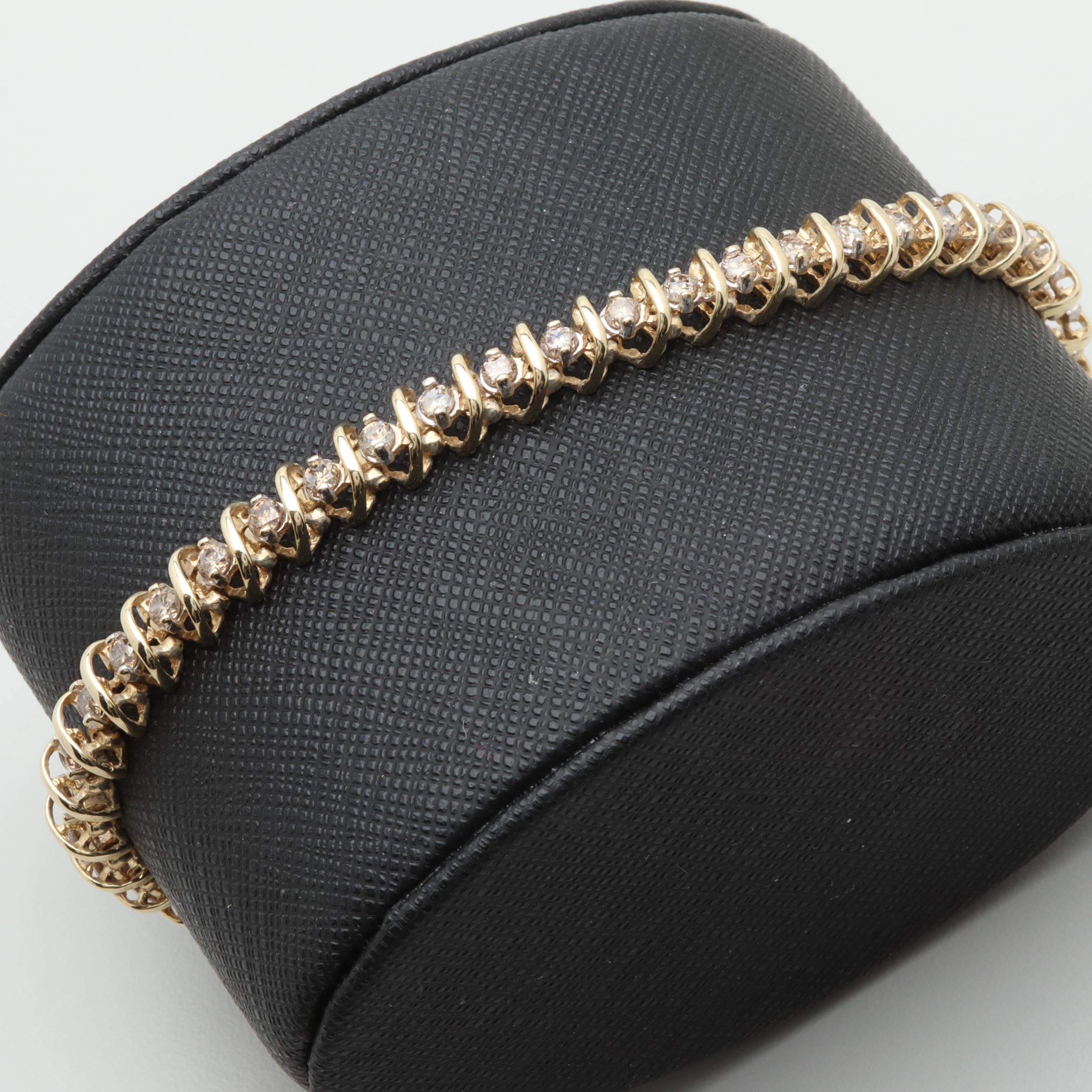 10K Yellow Gold 2.50 CTW Diamond Bracelet