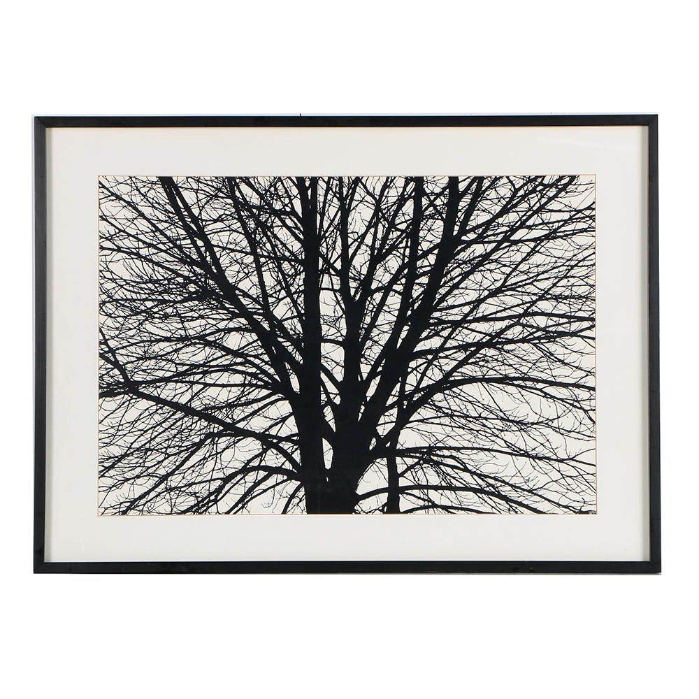 20th Century Serigraph of Tree