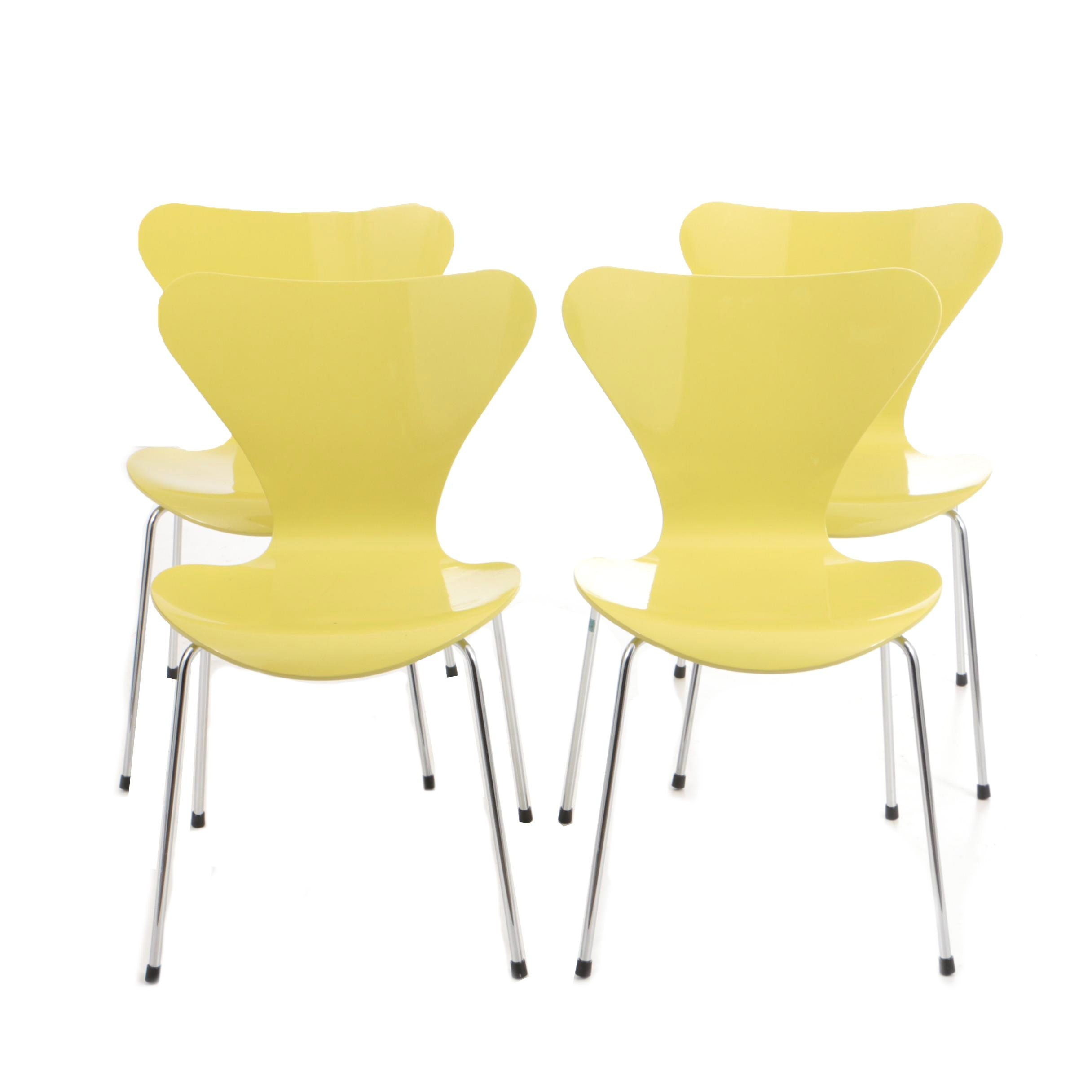 Set Of Four U0027Series 7u0027 Chairs By Arne Jacobsen For Fritz ...