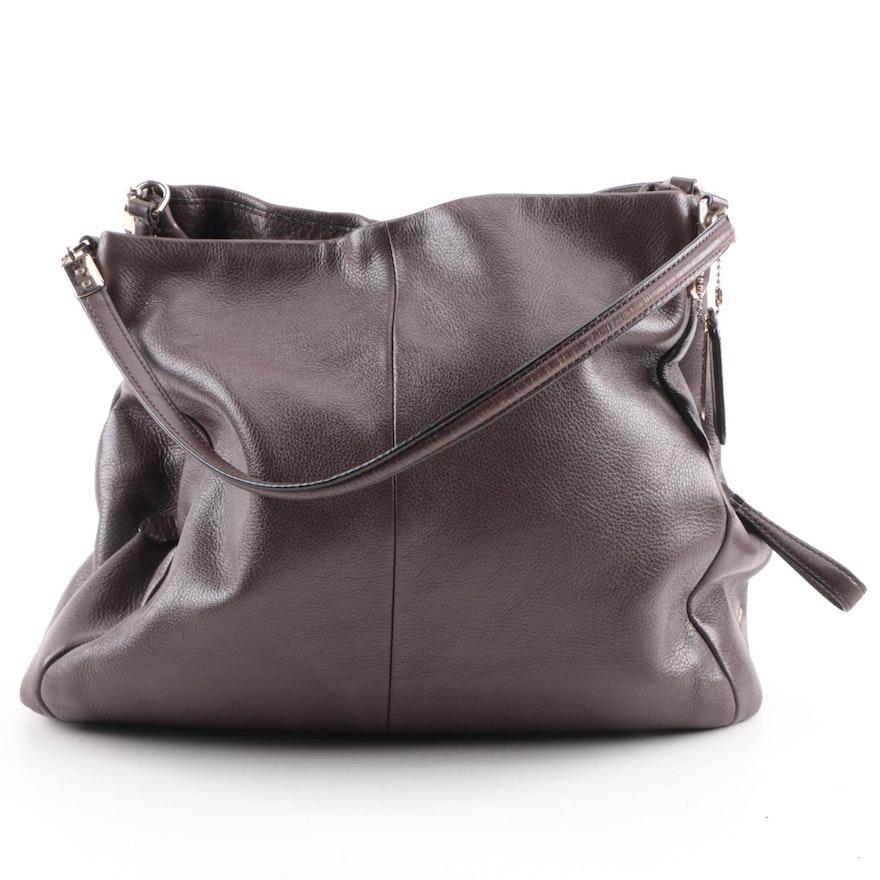 ec717345d415 Coach Madison Phoebe Brown Leather Shoulder Bag   EBTH