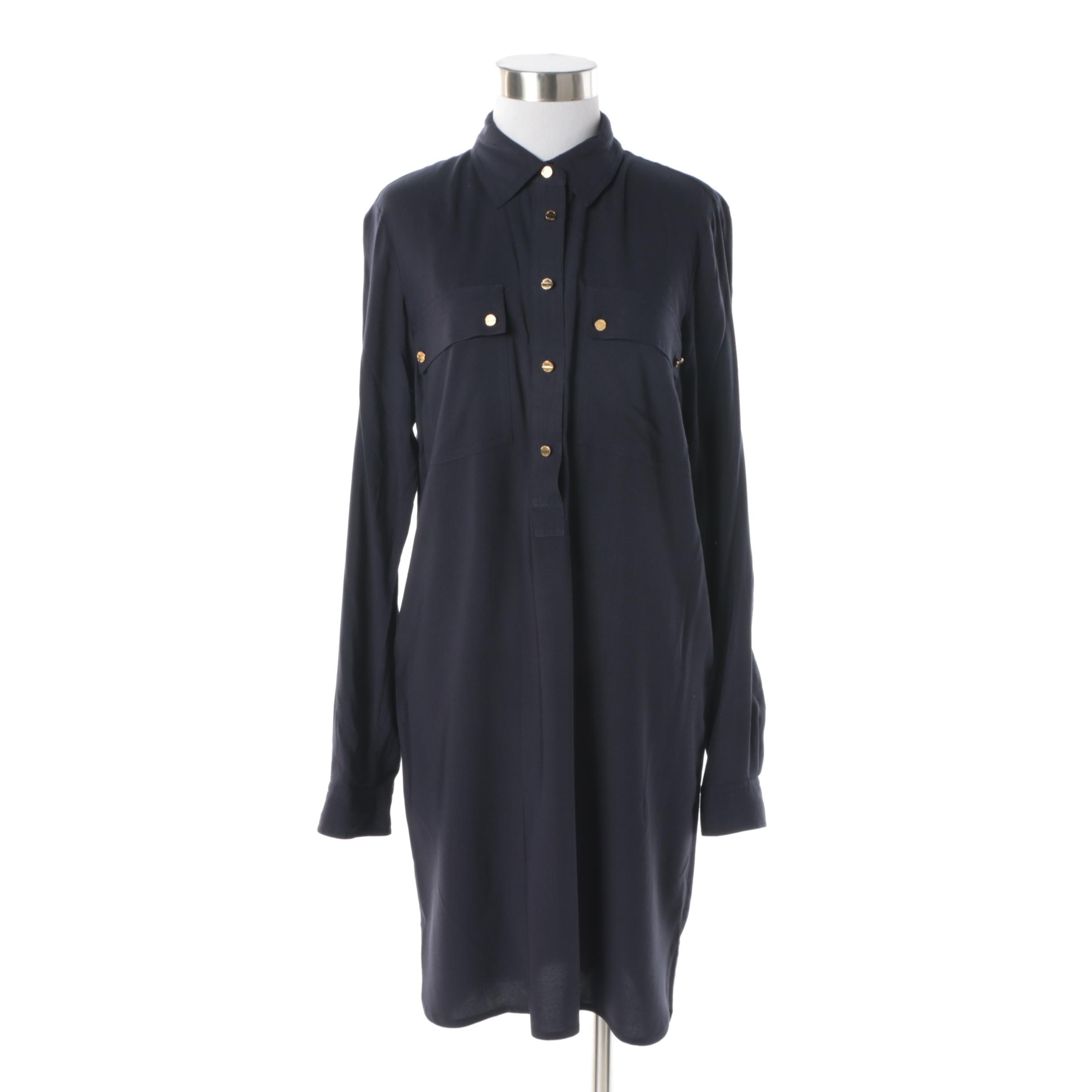 MICHAEL Michael Kors Navy Shirt Dress