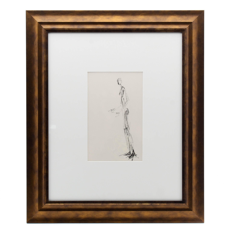 """Alberto Giacometti Lithograph for 1957 """"Derrière le Miroir"""" Magazine"""