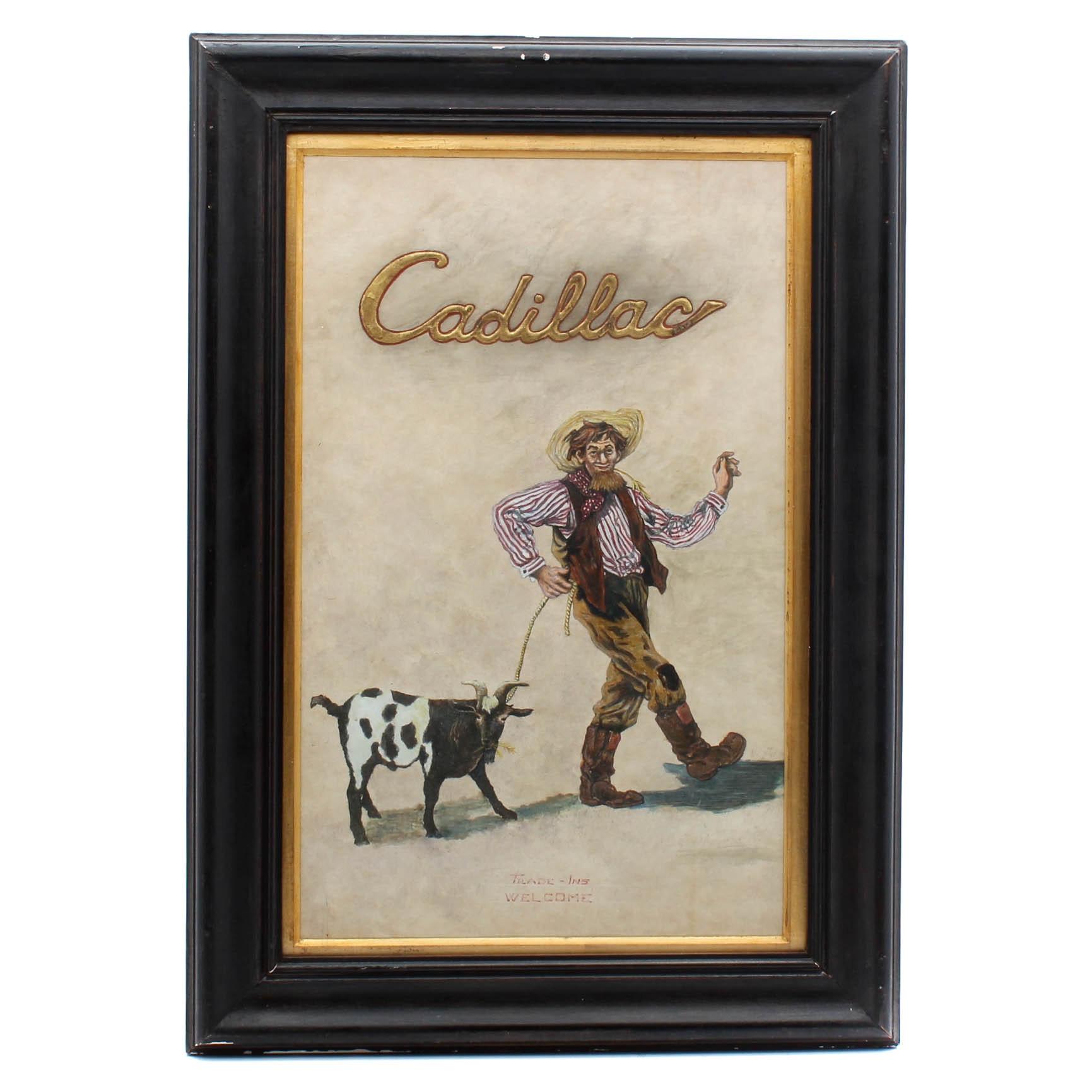 Cadillac Original Artwork for Ad