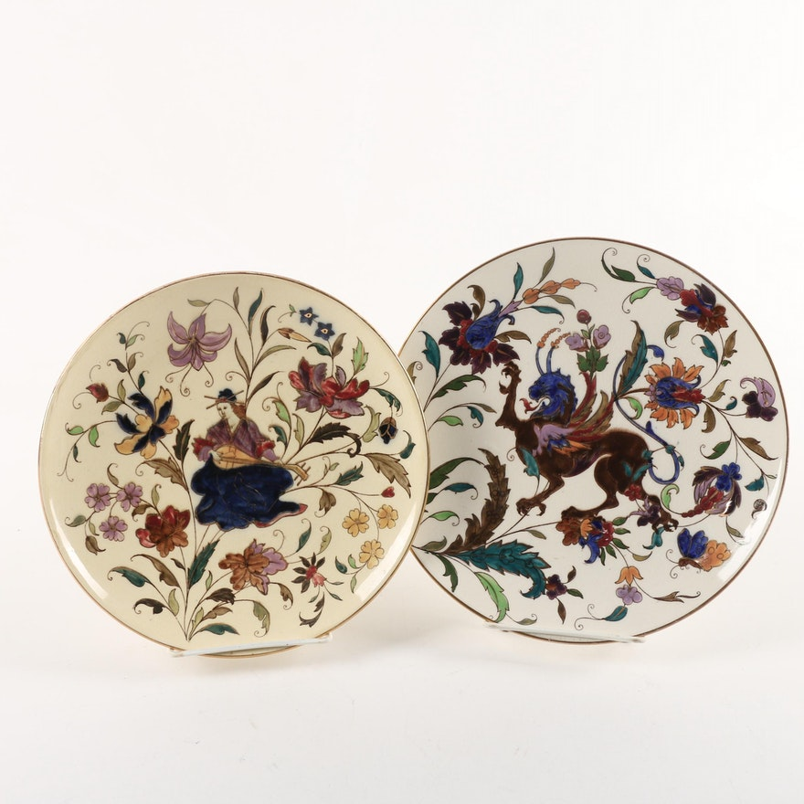 Vintage Rörstrand Hand Painted Faience Plates Ca 1937 51 Ebth